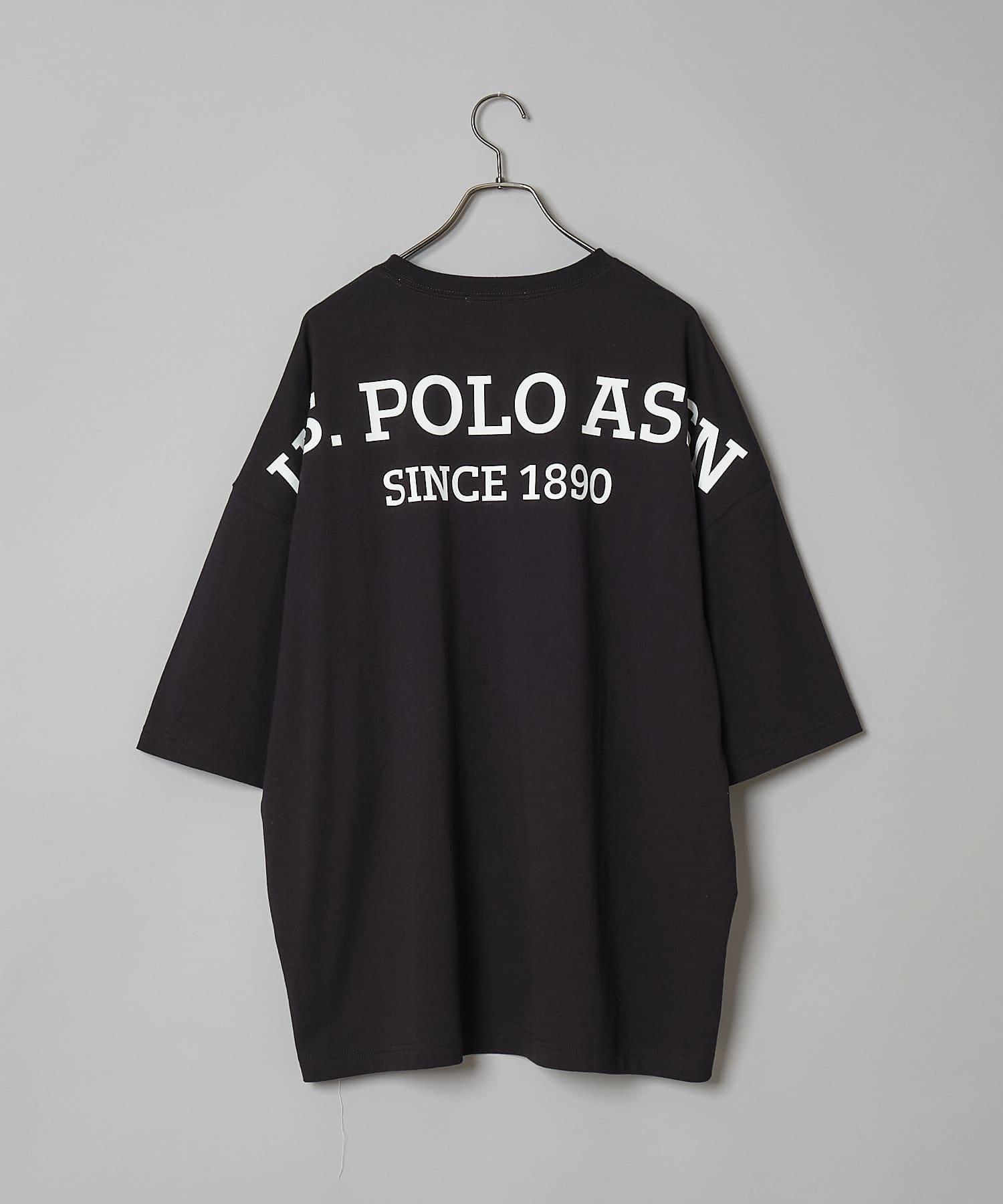 CIAOPANIC(チャオパニック) 【U.S. POLO ASSN. /ユーエスポロアッスン】別注ビッグシルエットサイド刺繍/バックプリントTシャツ