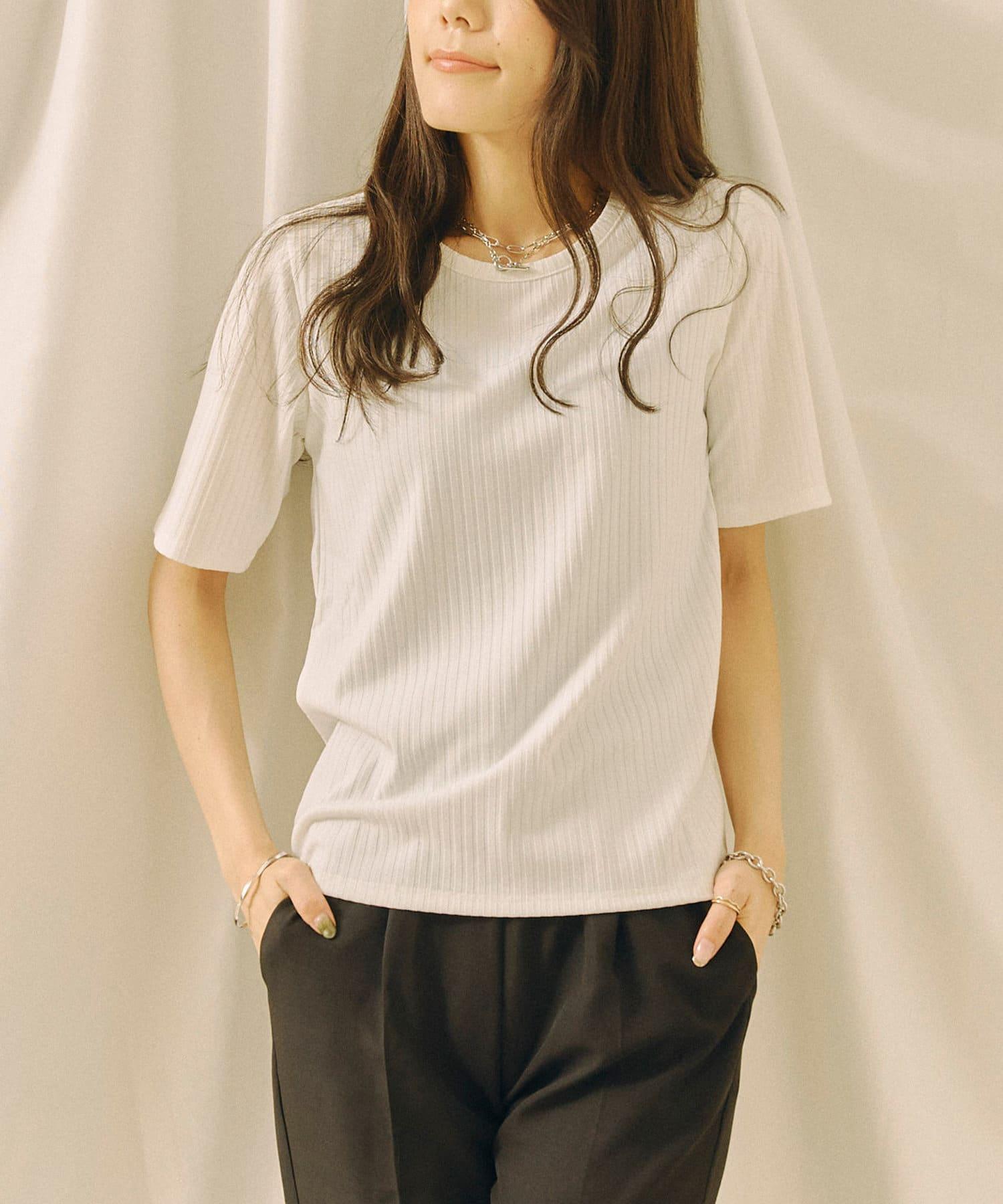Chez toi(シェトワ) 抗菌防臭テレココンパクトTシャツ