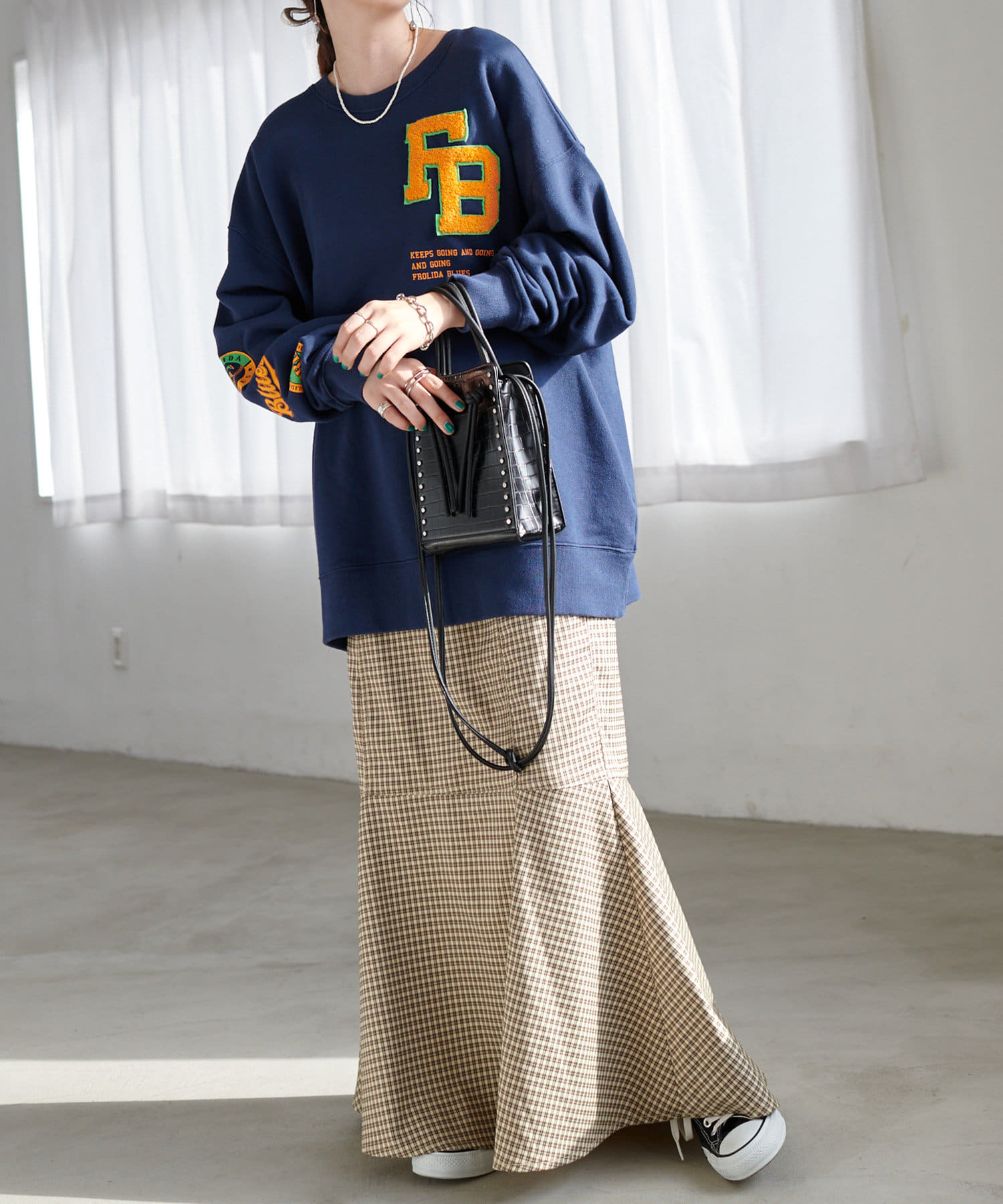 Discoat(ディスコート) ツイル切替マーメイドスカート