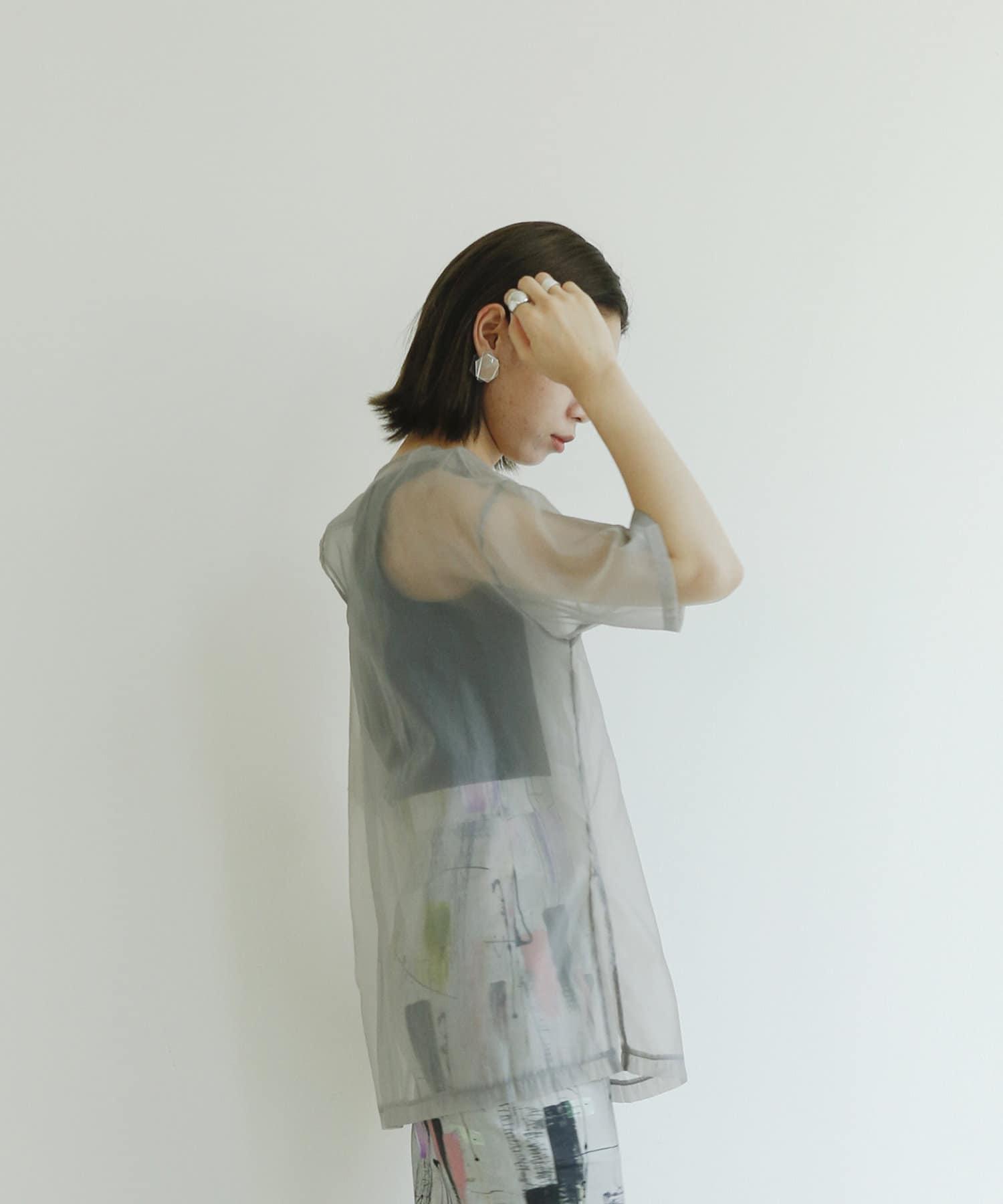 mona Belinda(モナ ベリンダ) シアーレイヤード線画イラストT