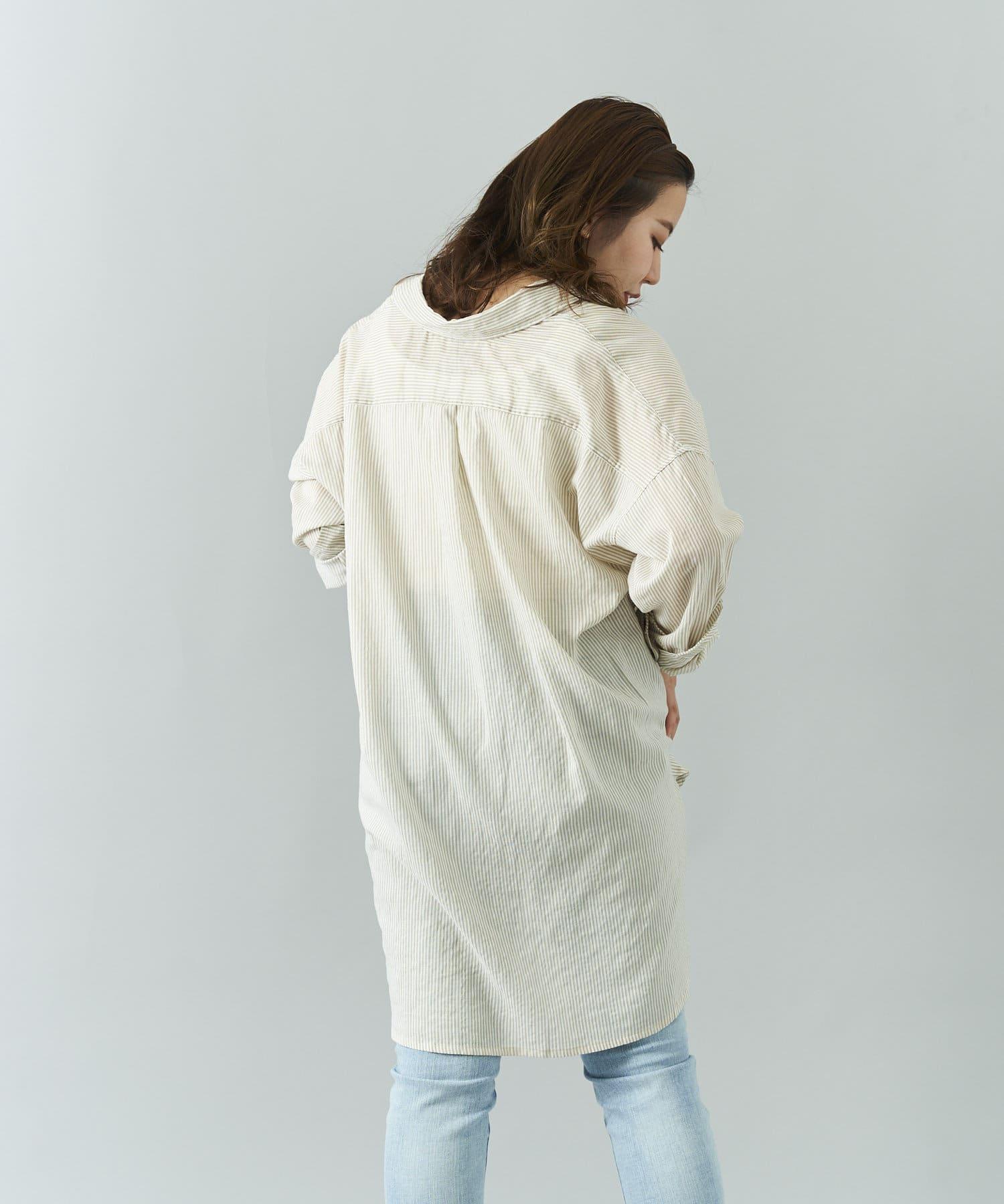 Jena espace merveilleux(ジェナ エスパスメルヴェイユ) コットンガーゼビッグシャツ