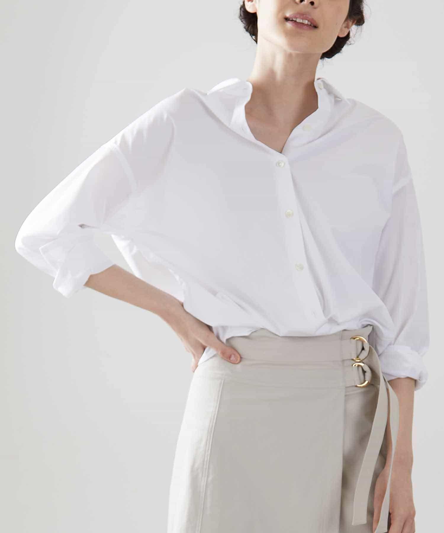 OUVRAGE CLASSE(ウヴラージュクラス) レディース クレンゼオーバーサイズシャツ ホワイト