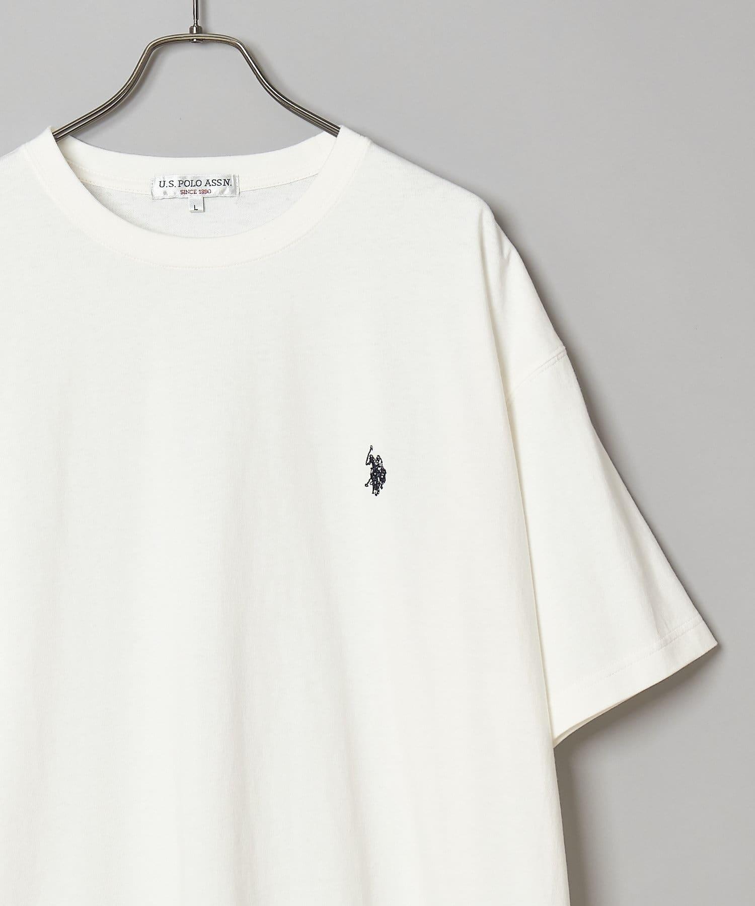CIAOPANIC(チャオパニック) 【U.S. POLO ASSN. /ユーエスポロアッスン】別注ワンポイント刺繍ロゴビッグシルエットTシャツ