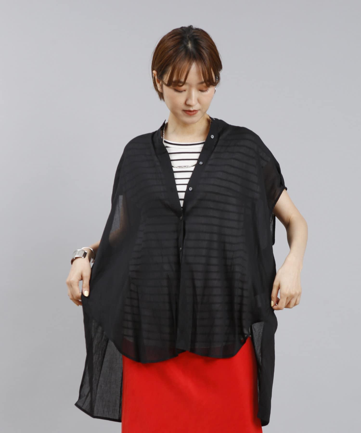 DOUDOU(ドゥドゥ) バックデザインフレンチシャツ