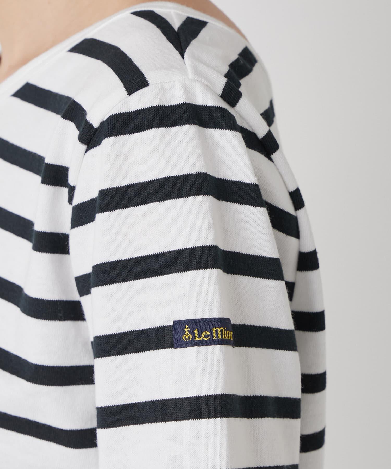La boutique BonBon(ラブティックボンボン) 【Le minor(ルミノア)・別注・洗える】マドモワゼルボーダーTシャツ