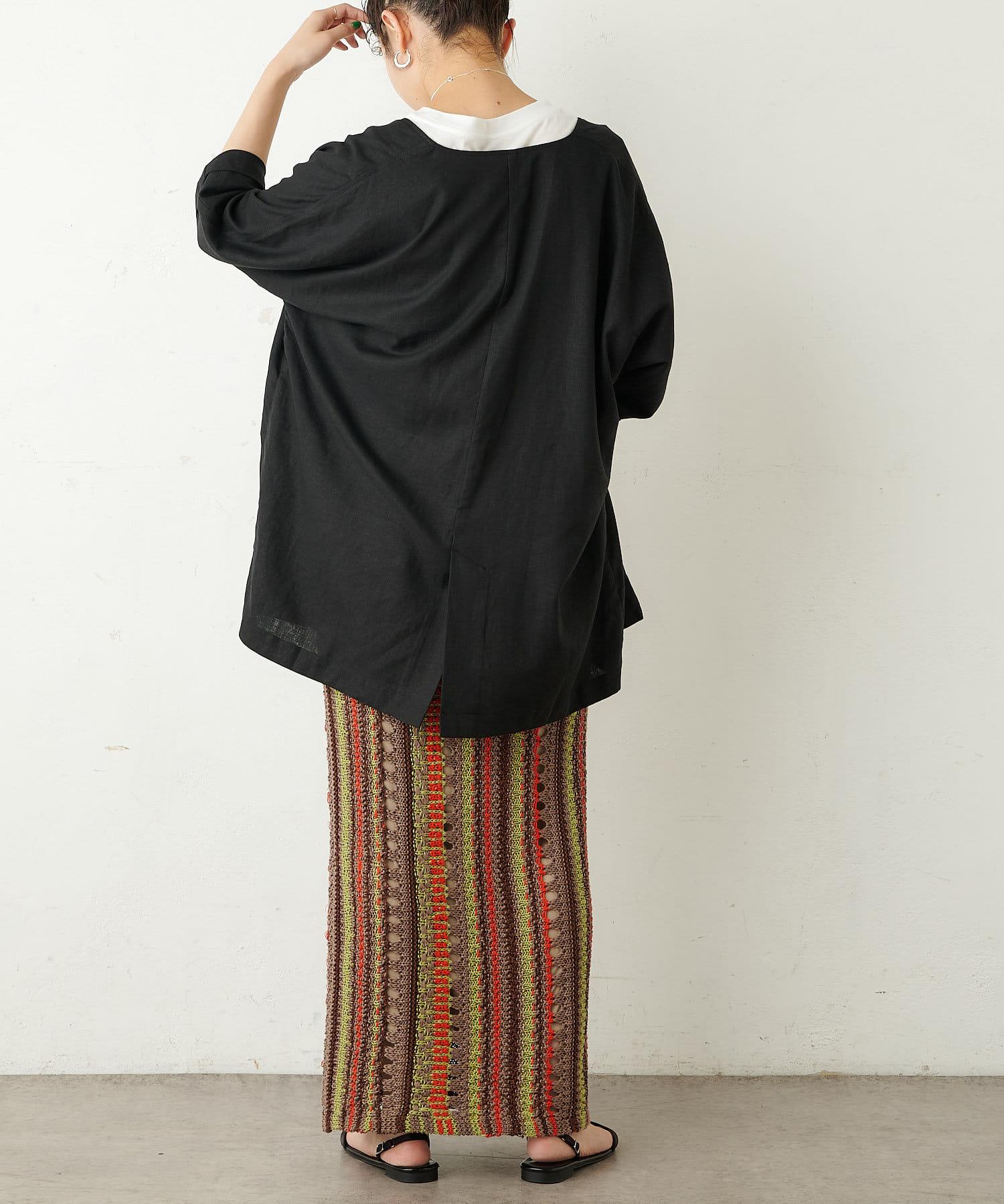 Omekashi(オメカシ) リネンビッグジャケット
