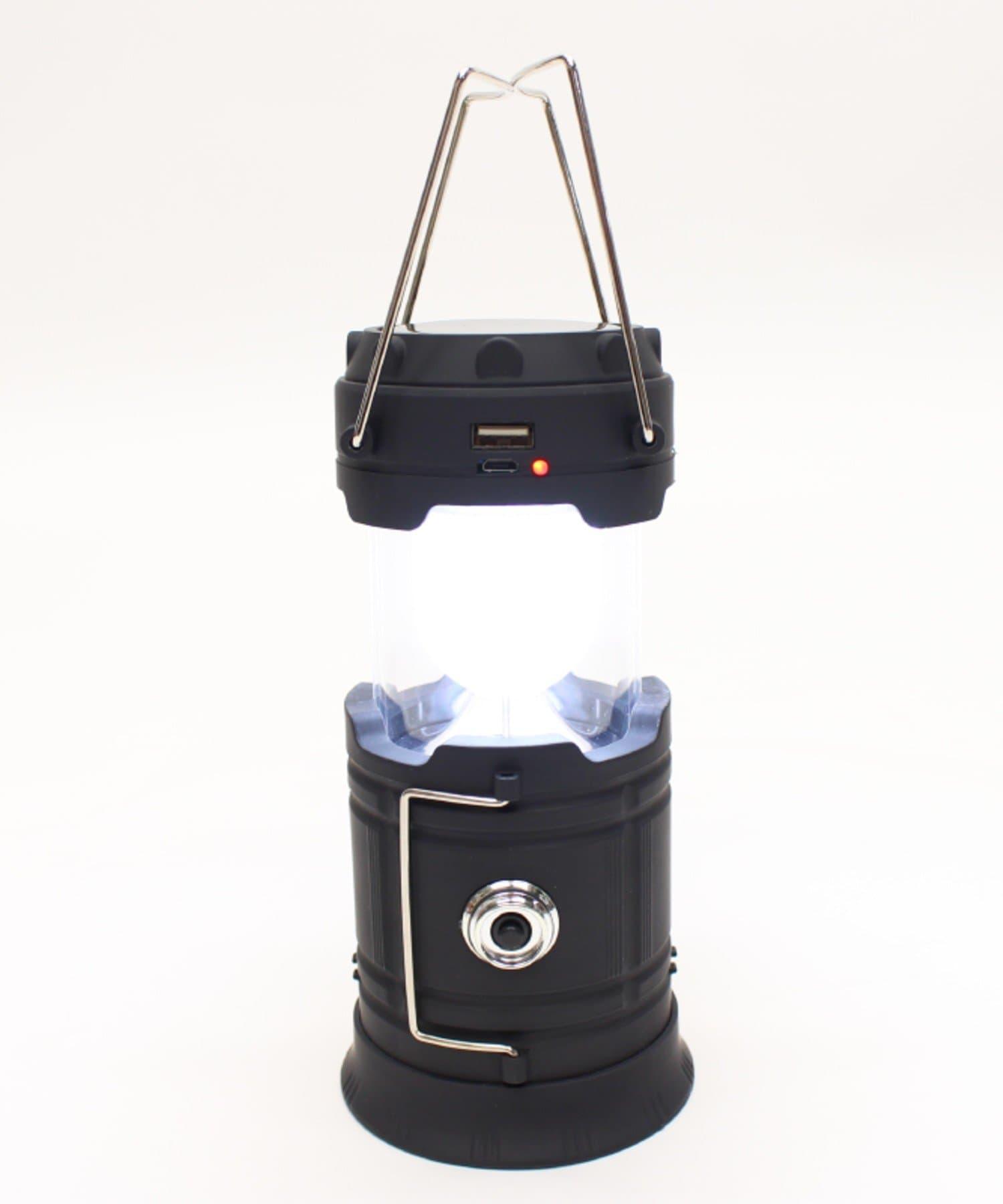 COLONY 2139(コロニー トゥーワンスリーナイン) ライフスタイル モバイルチャージ付きソーラーランタン ブラック