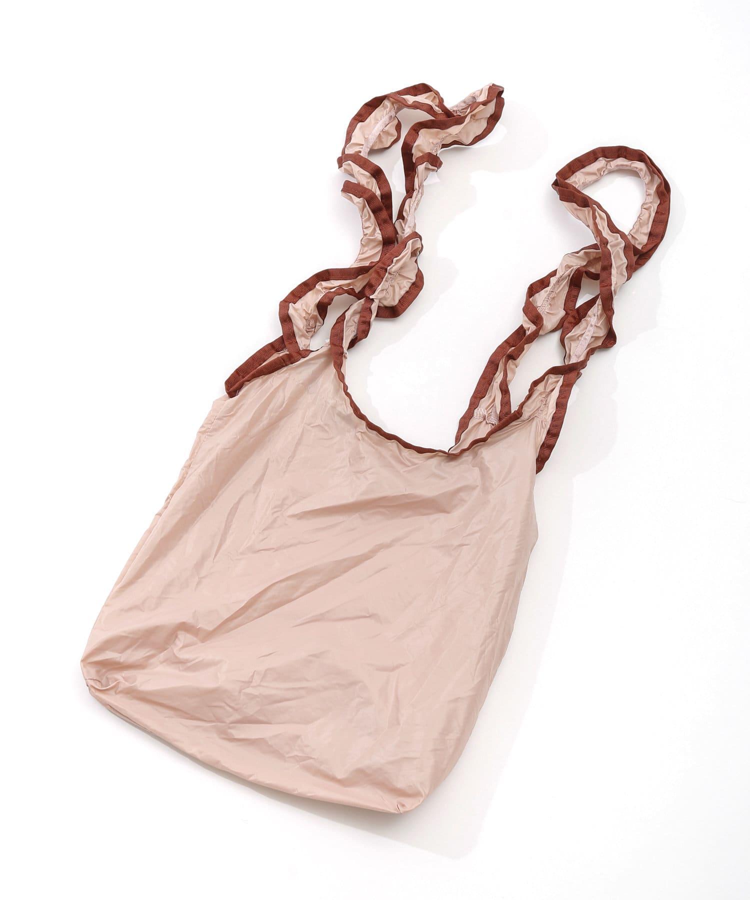 3COINS(スリーコインズ) ライフスタイル 【ワタシの毎日を彩る】フリルバッグ ピンク