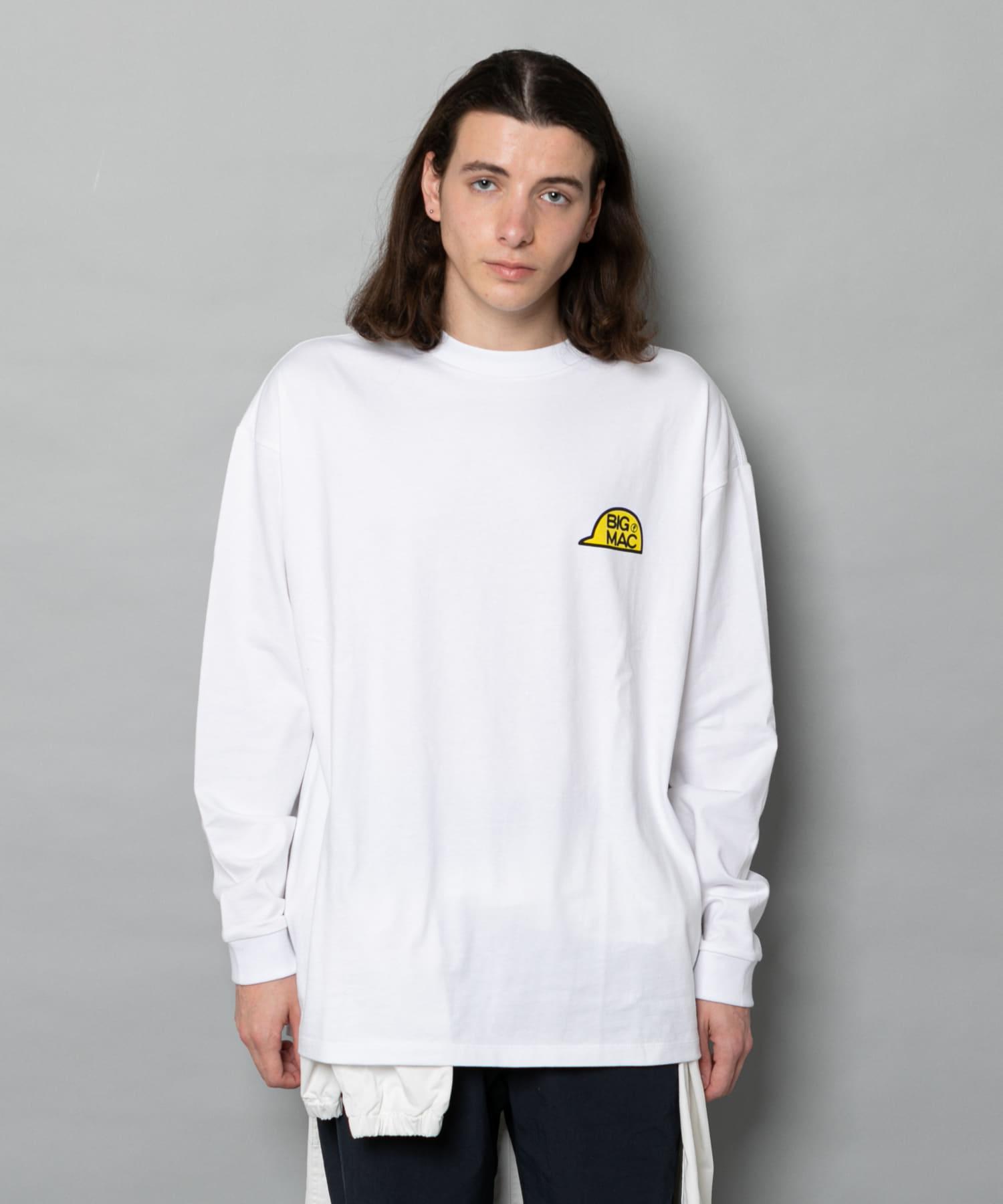 OUTLET(アウトレット) メンズ 【Ciaopanic】【BIG MAC×FACE】CAPプリントTシャツ/ロンT ホワイト