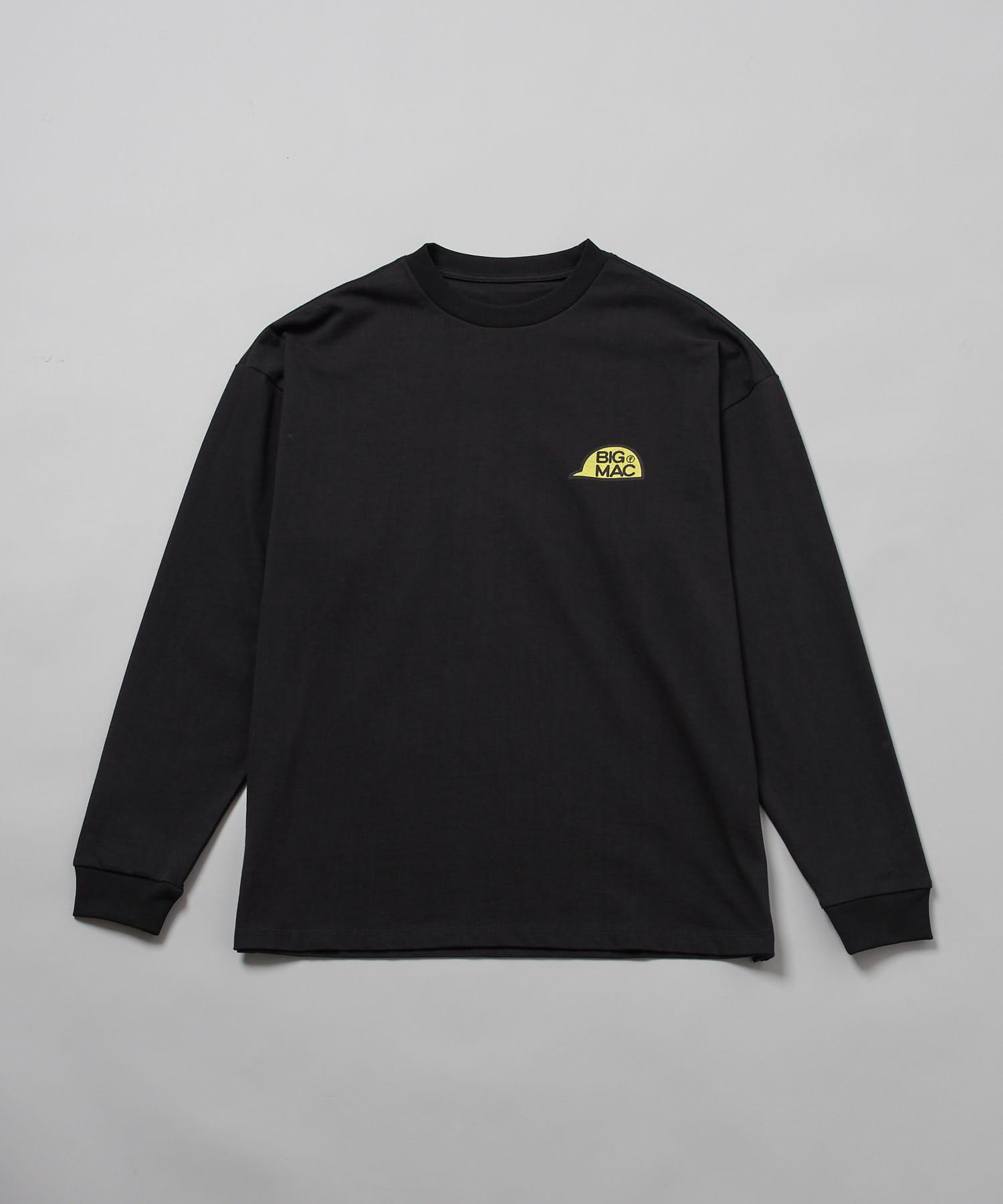 OUTLET(アウトレット) メンズ 【Ciaopanic】【BIG MAC×FACE】CAPプリントTシャツ/ロンT ブラック