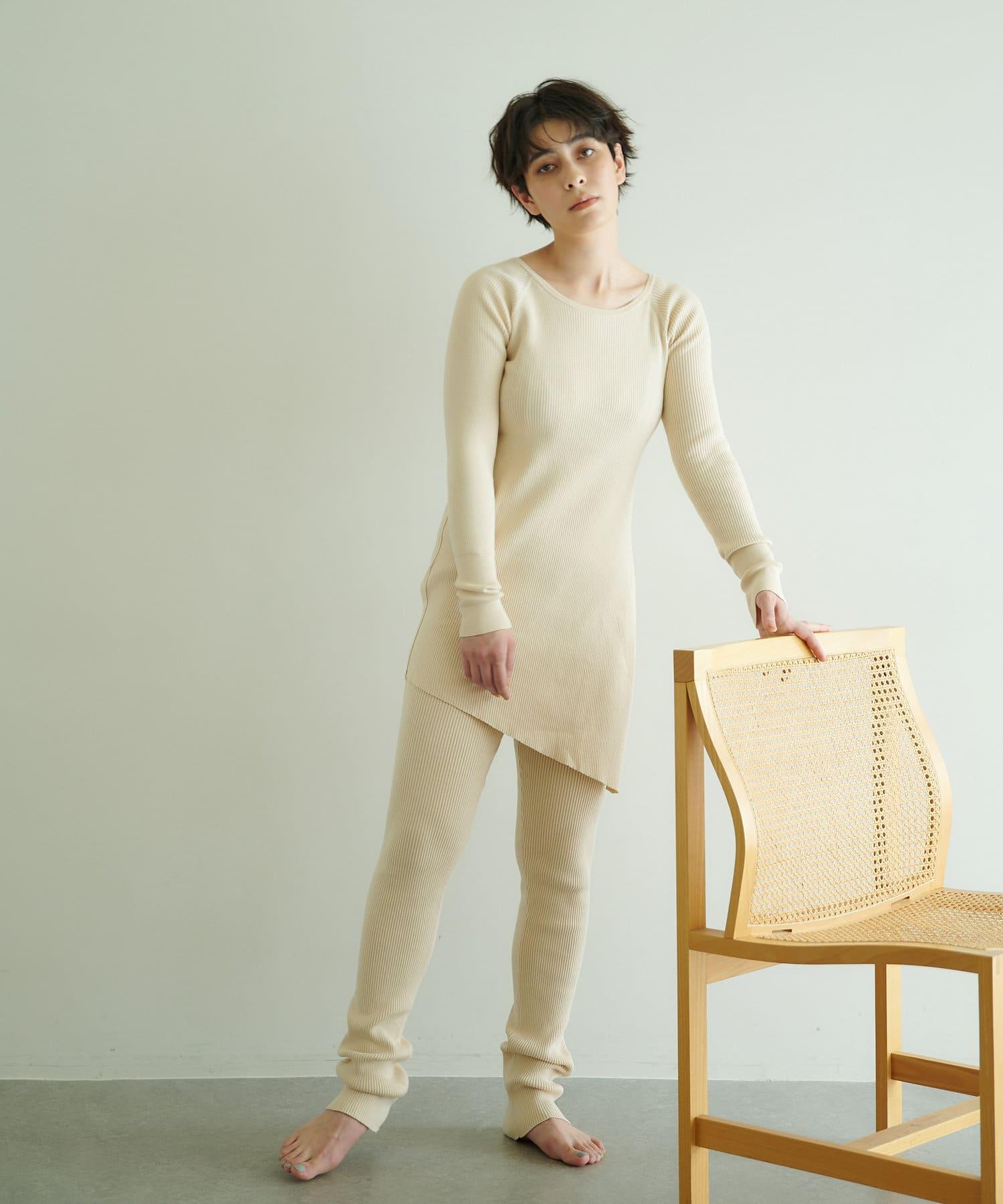 Whim Gazette(ウィム ガゼット) 【nee mee】リブセットアップ