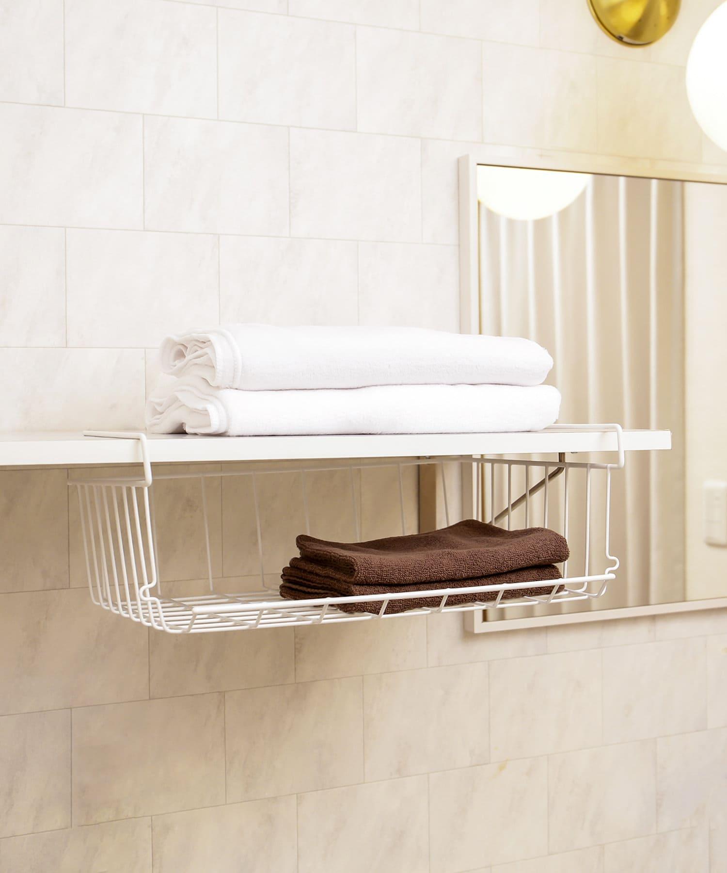 3COINS(スリーコインズ) ライフスタイル ワイヤースタック収納ラック ホワイト