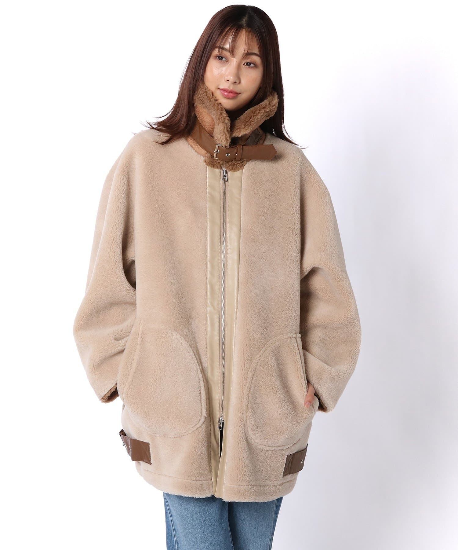 Lui's(ルイス) ウール混シープボアB3ジャケット