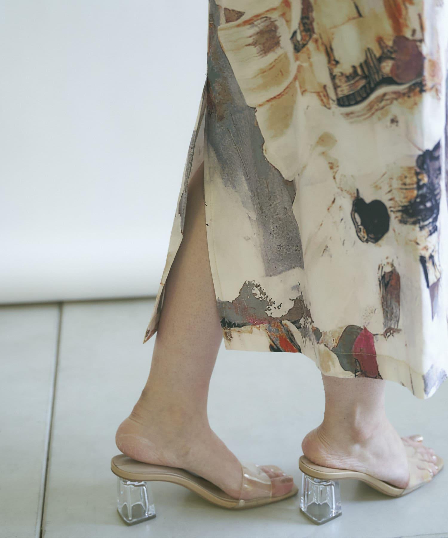 mona Belinda(モナ ベリンダ) 《WEB限定》ペイント柄スカート