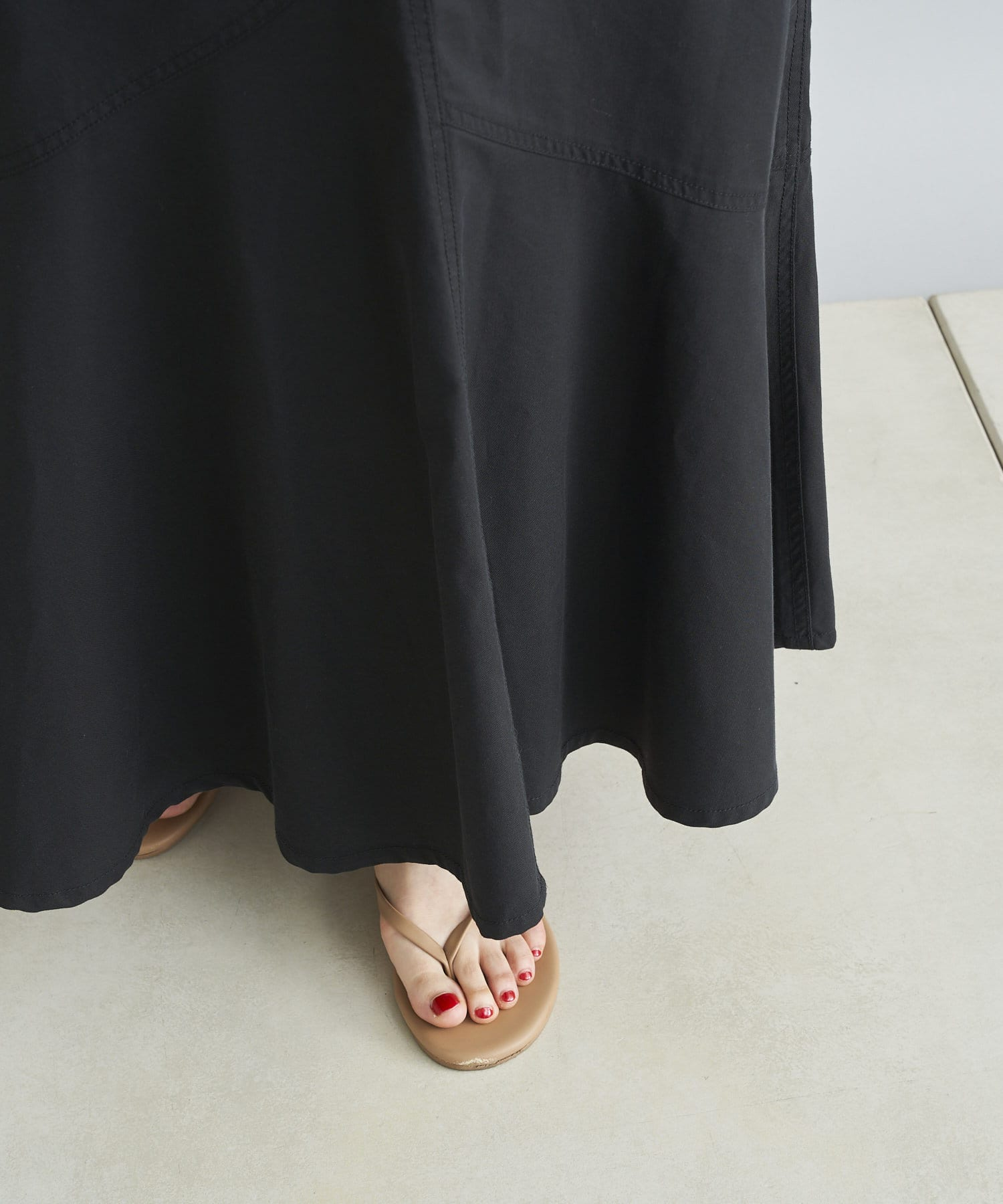 DOUDOU(ドゥドゥ) 【WEB限定】デニムアシメ切替マーメイドスカート
