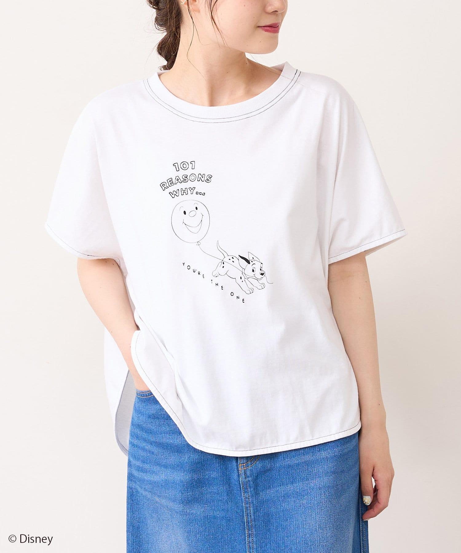 pual ce cin(ピュアルセシン) <101匹わんちゃん>刺繍Tシャツ