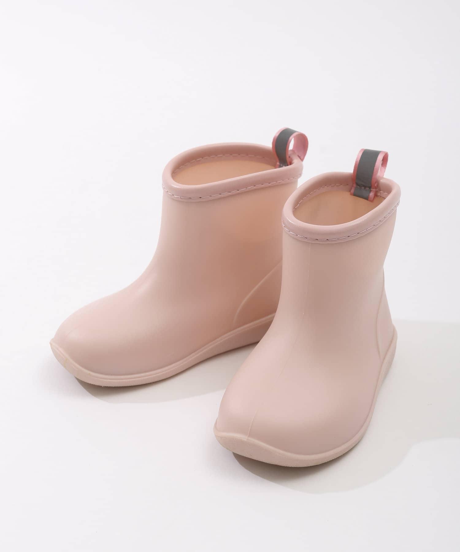 3COINS(スリーコインズ) ライフスタイル 【Enjoy Rainy Days】レインブーツ:15cm ピンク
