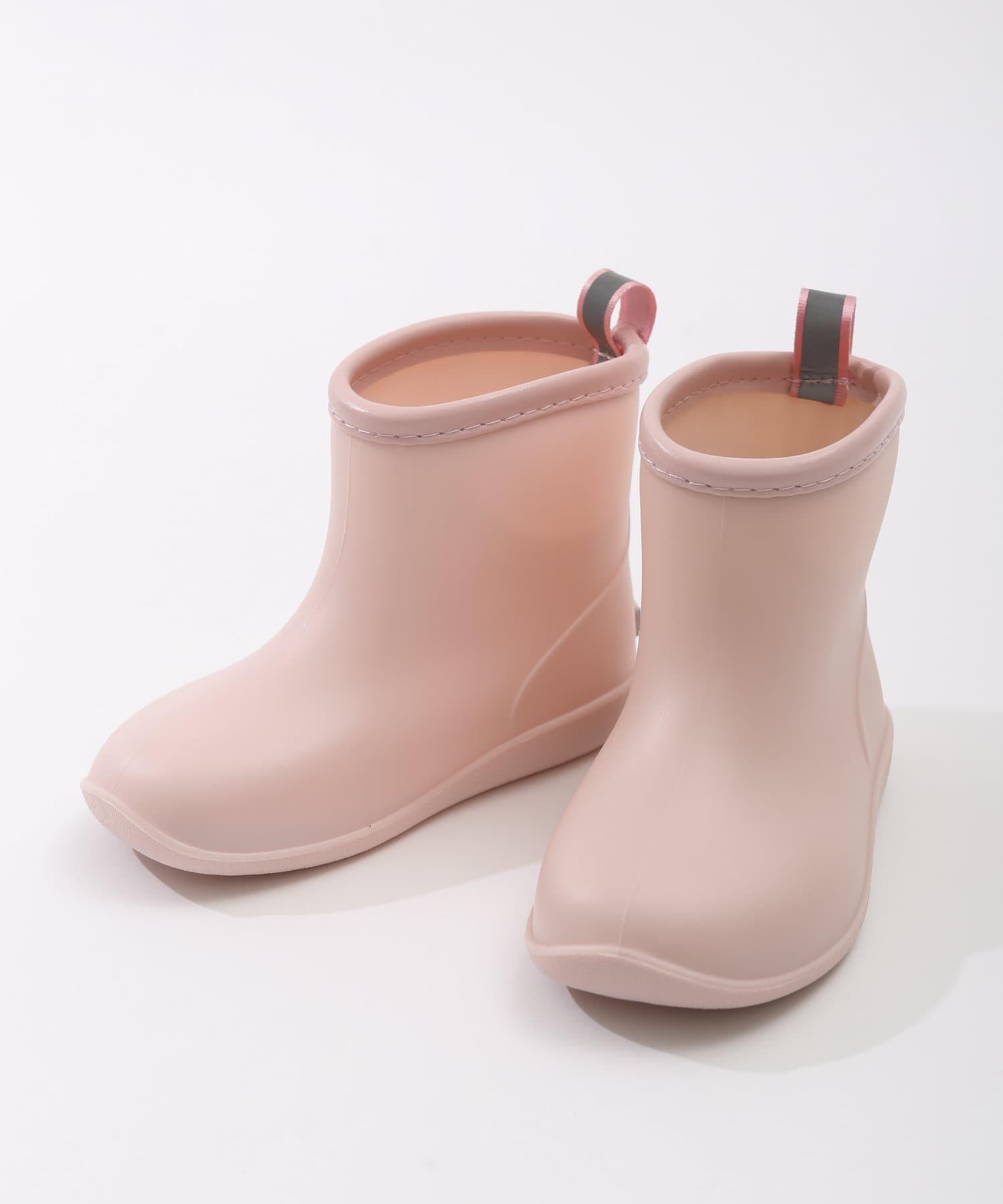 3COINS(スリーコインズ) ライフスタイル 【Enjoy Rainy Days】レインブーツ:16cm ピンク