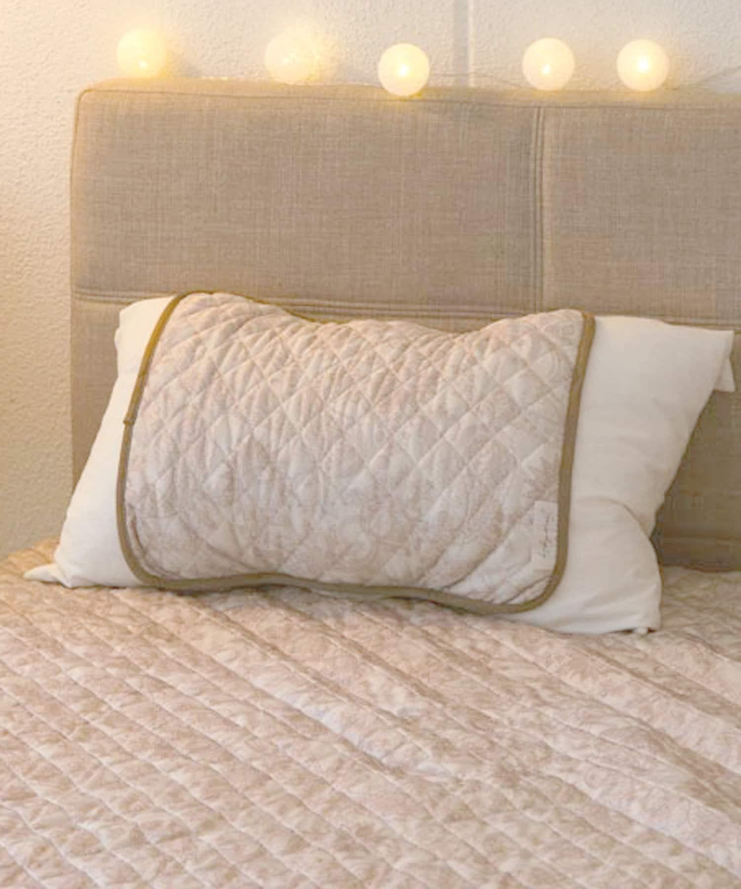 3COINS(スリーコインズ) ライフスタイル 【ひんやりファブリック】接触冷感枕パッド ベージュ