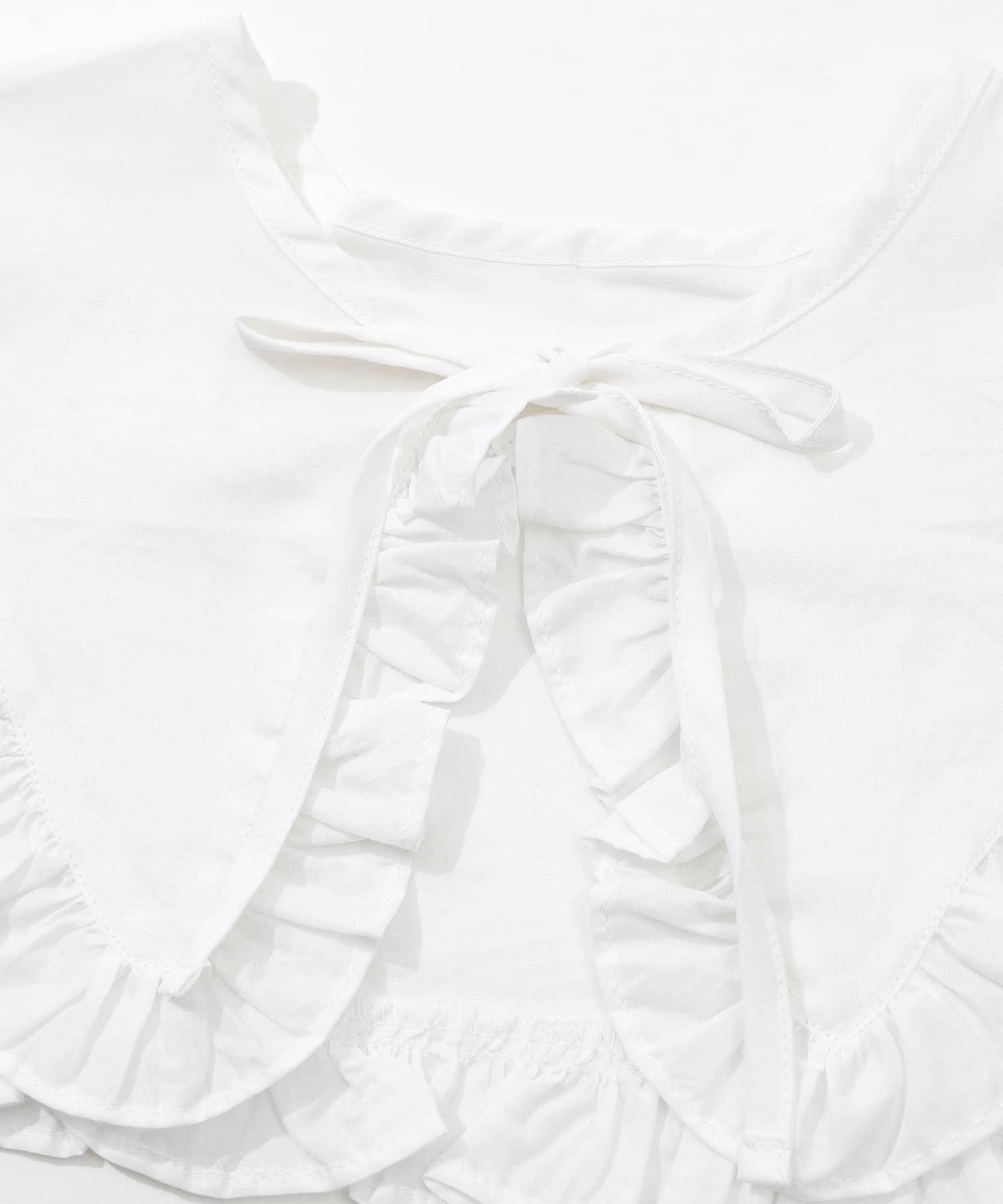 3COINS(スリーコインズ) 【ASOKO】<コーディネートのワンポイントに>フリルリボンつけ襟