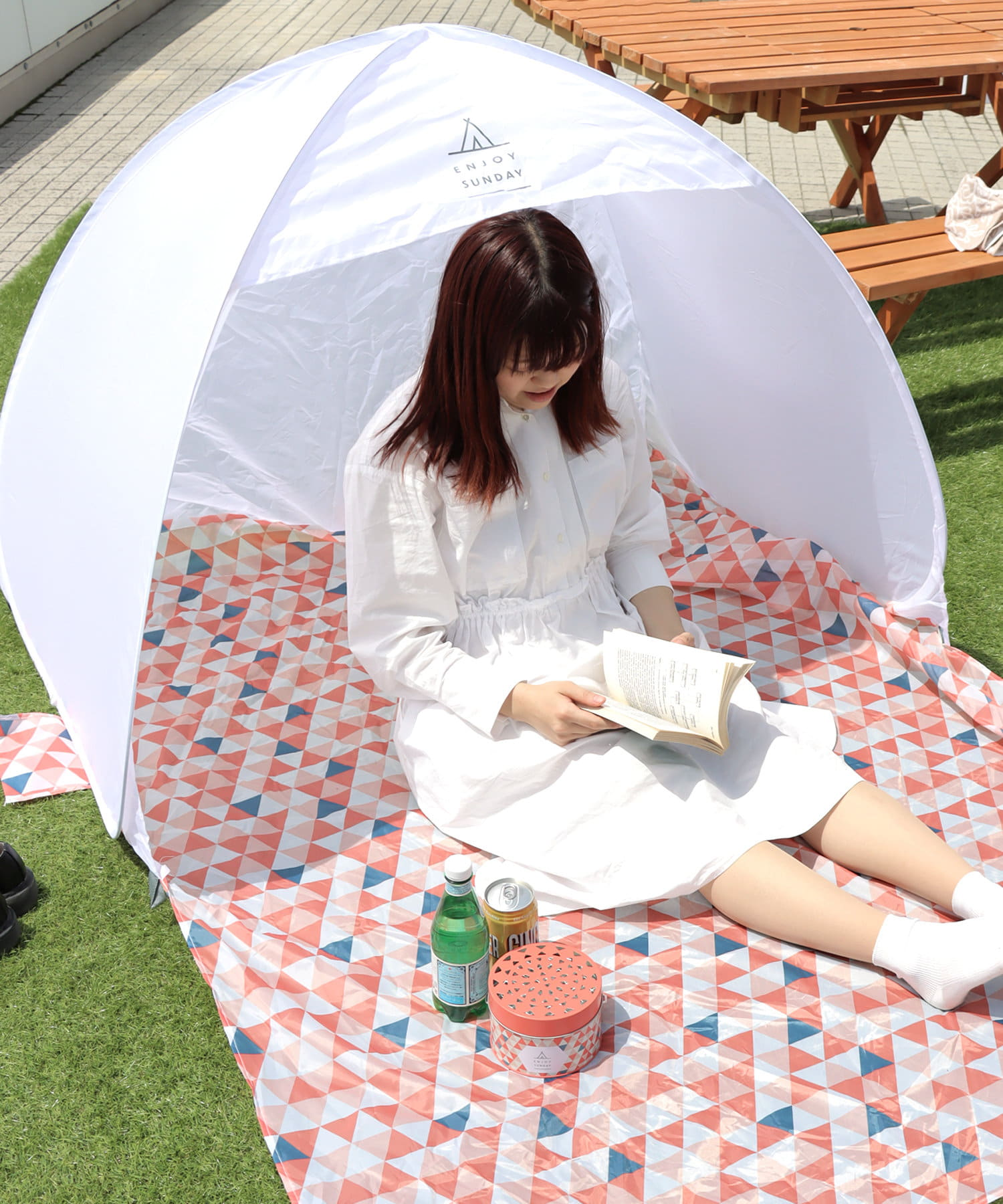 3COINS(スリーコインズ) 【GIRLY PICNIC】 POPUPテント