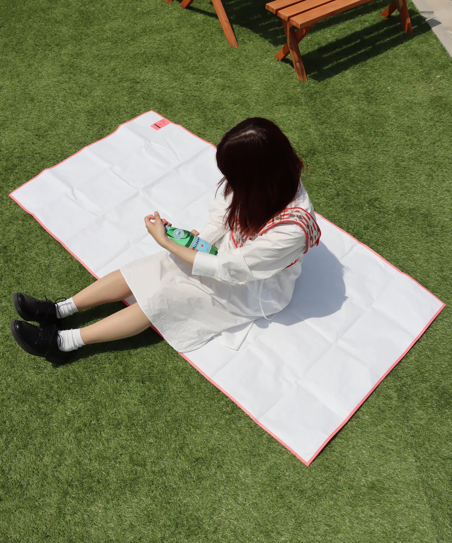 3COINS(スリーコインズ) ライフスタイル 【GIRLY PICNIC】レジャーシート【Lサイズ】 ピンク
