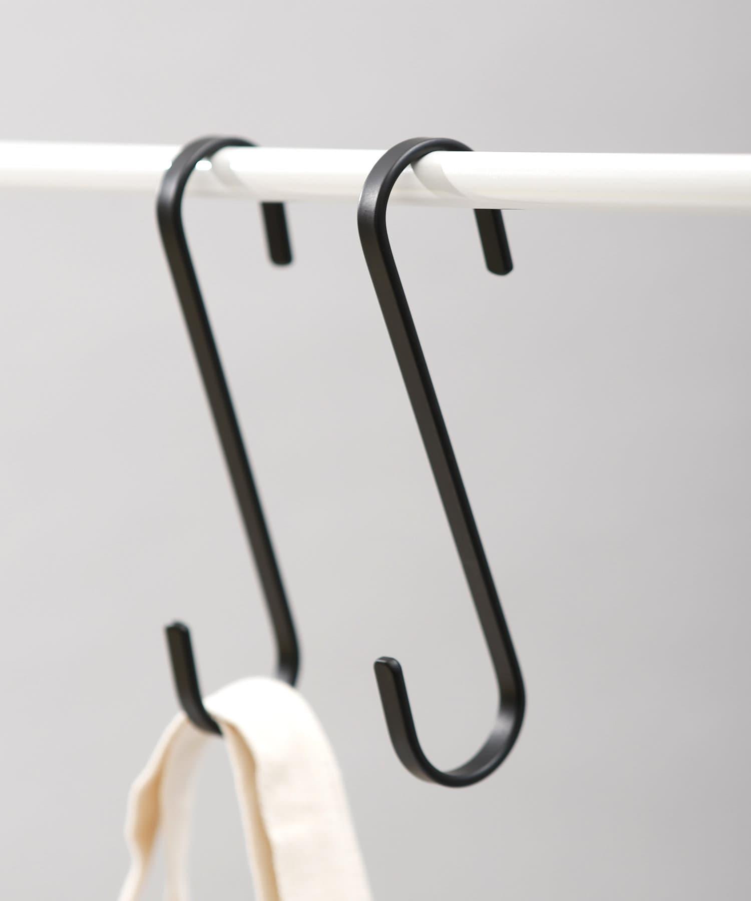 ASOKO(アソコ) ライフスタイル 【ASOKO GOOD STANDARD】シンプルS字フック2個セット ブラック