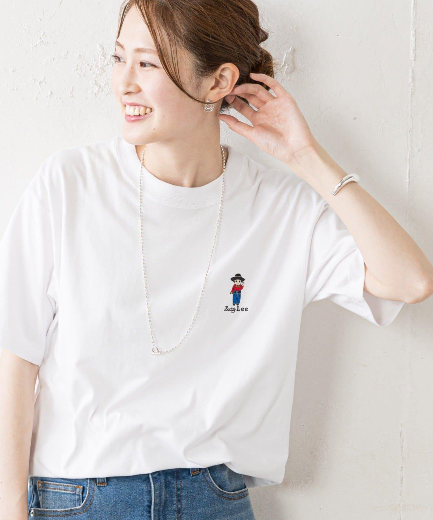 CIAOPANIC TYPY(チャオパニックティピー) レディース 【Lee×CIAOPANIC TYPY】BuddyLee刺繍Tee ホワイト
