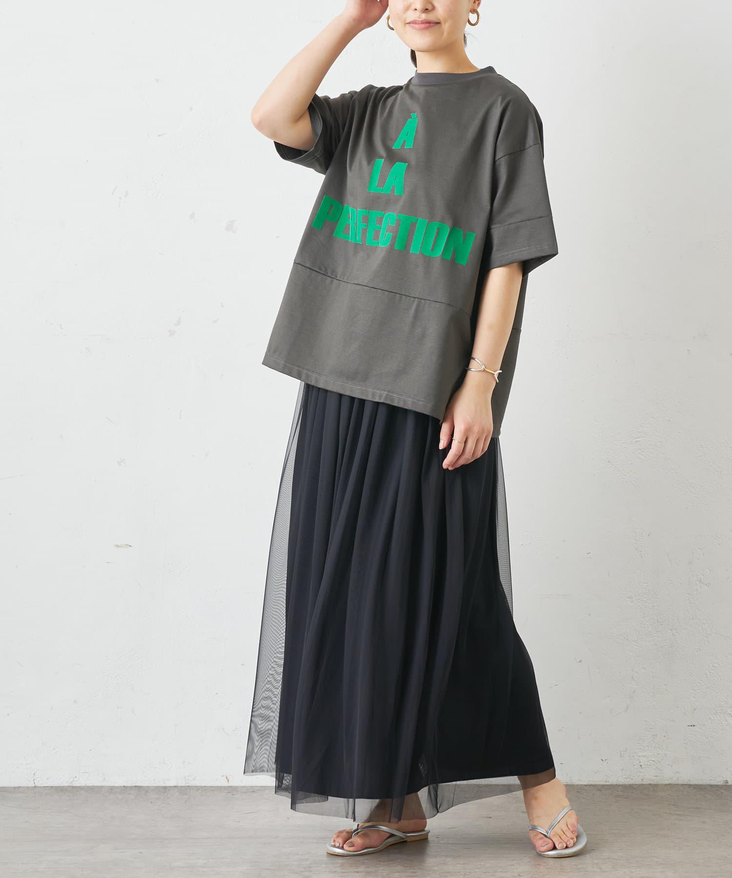 BONbazaar(ボンバザール) フロッキーロゴTシャツ◆