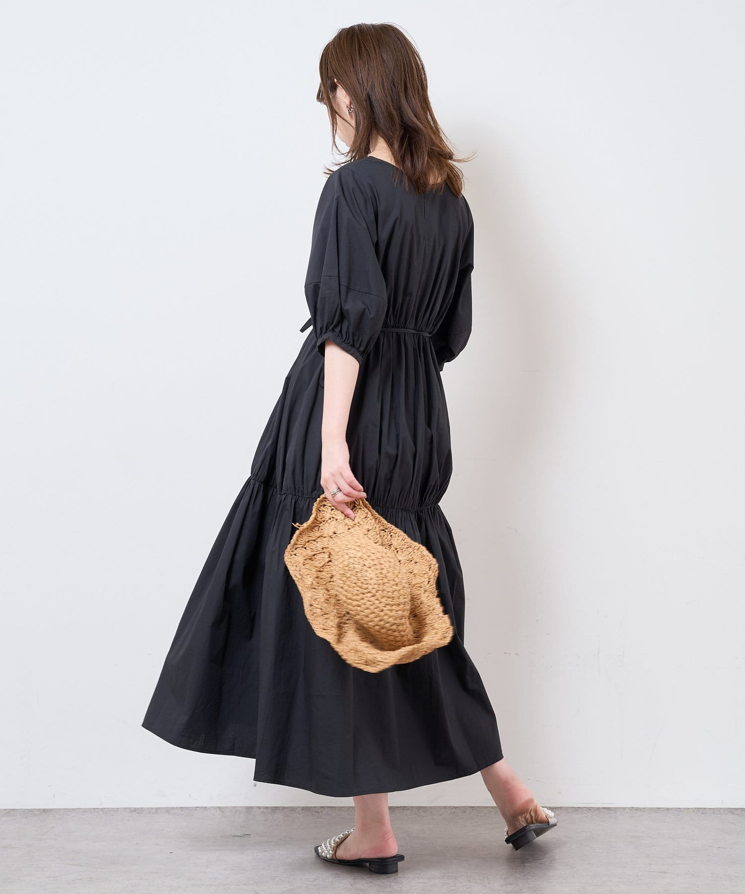 natural couture(ナチュラルクチュール) 【WEB限定】おしゃれティアードワンピース