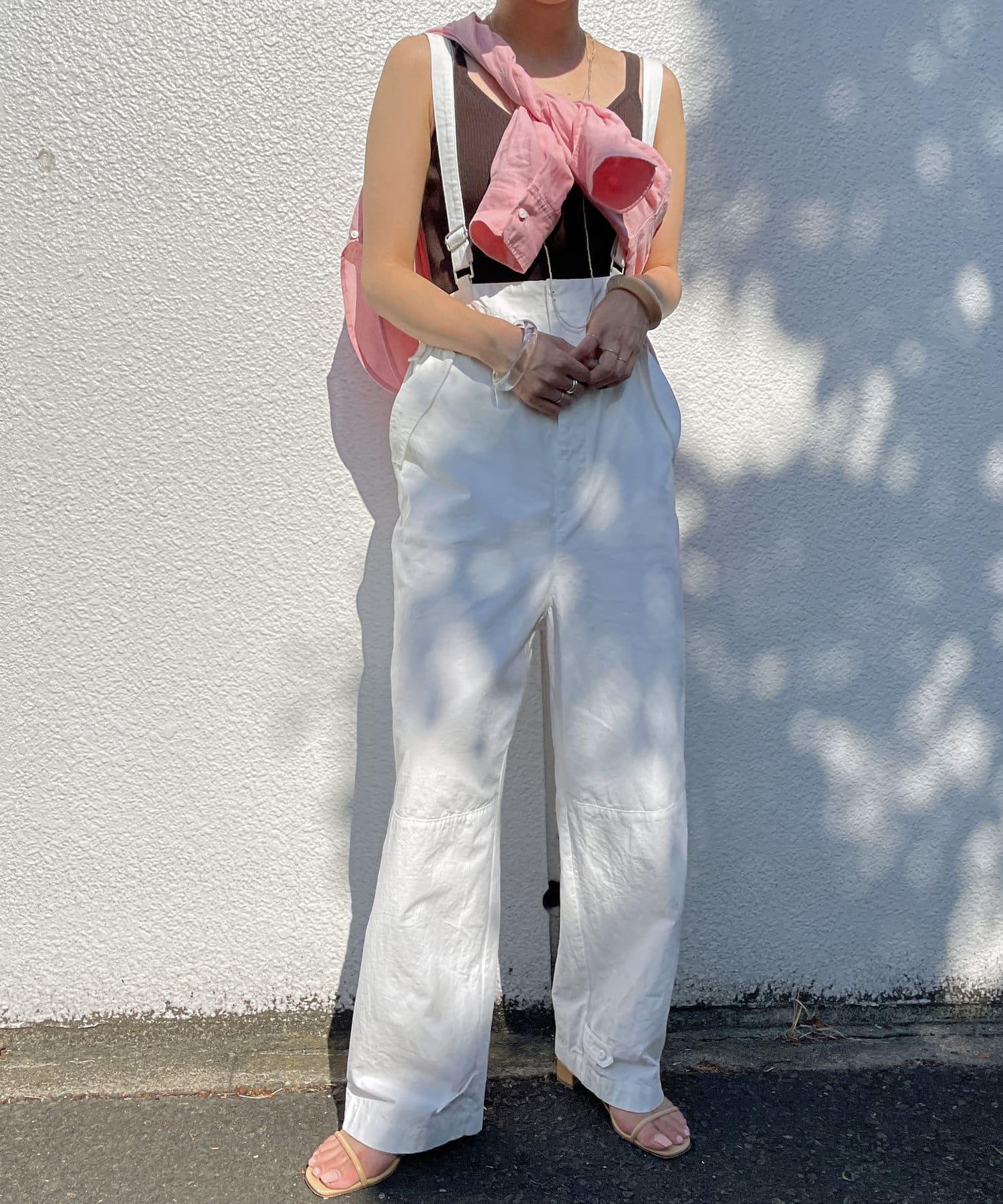Omekashi(オメカシ) サスペンダー付き裾絞りパンツ