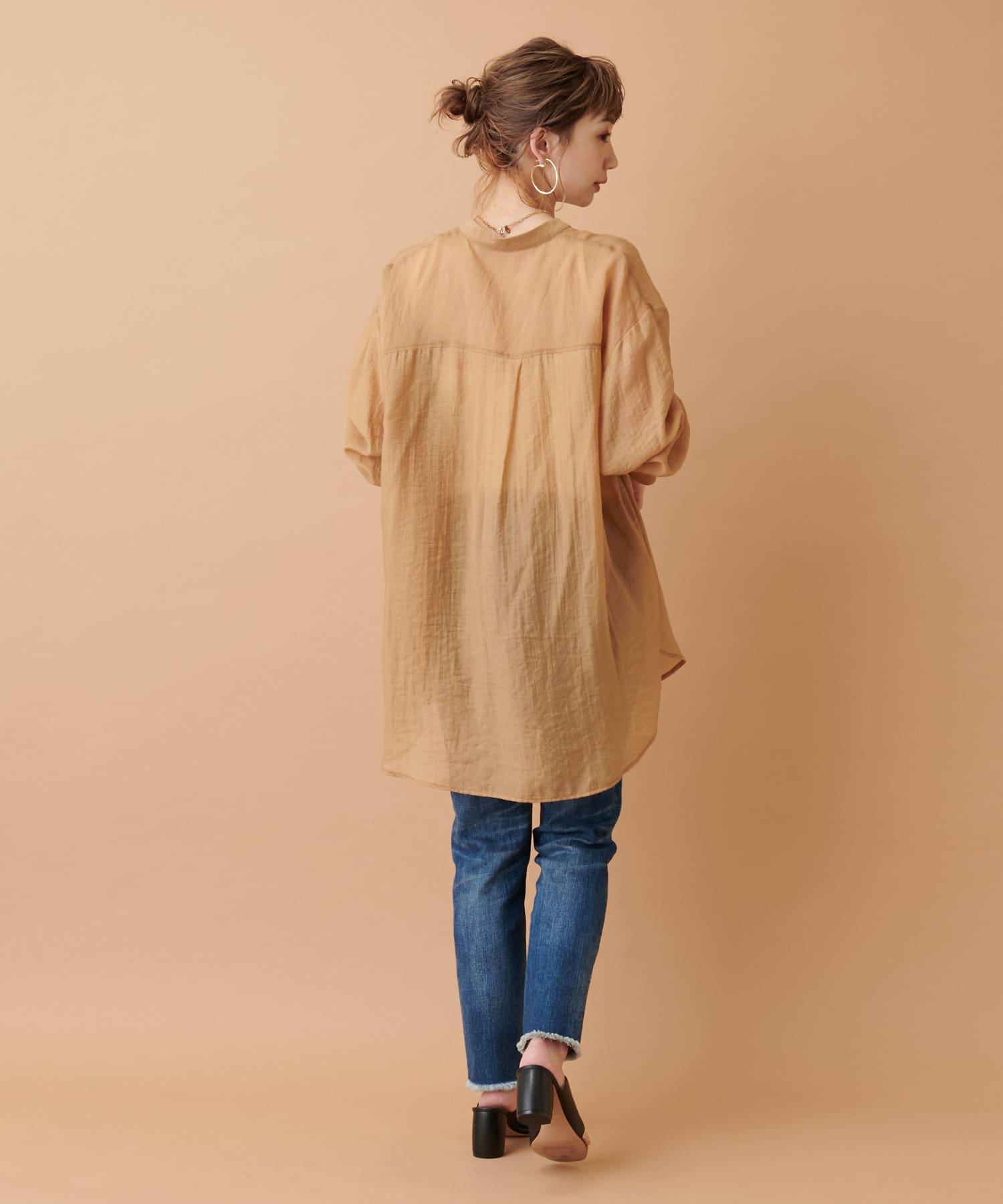 COLLAGE GALLARDAGALANTE(コラージュ ガリャルダガランテ) 【透け感を楽しむ】シアーポケットシャツ