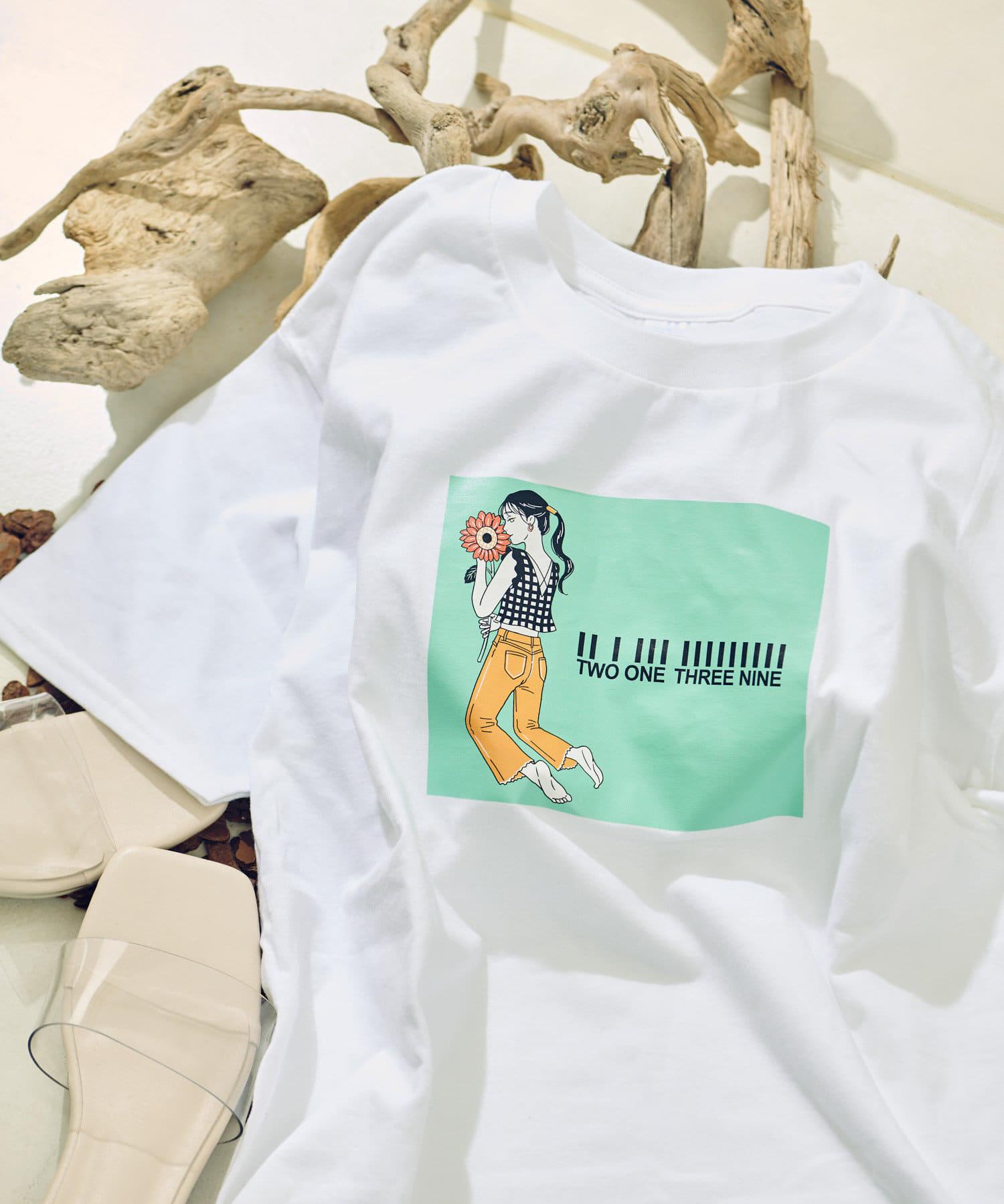 COLONY 2139(コロニー トゥーワンスリーナイン) レディース イラストレーターコラボTシャツ ミント