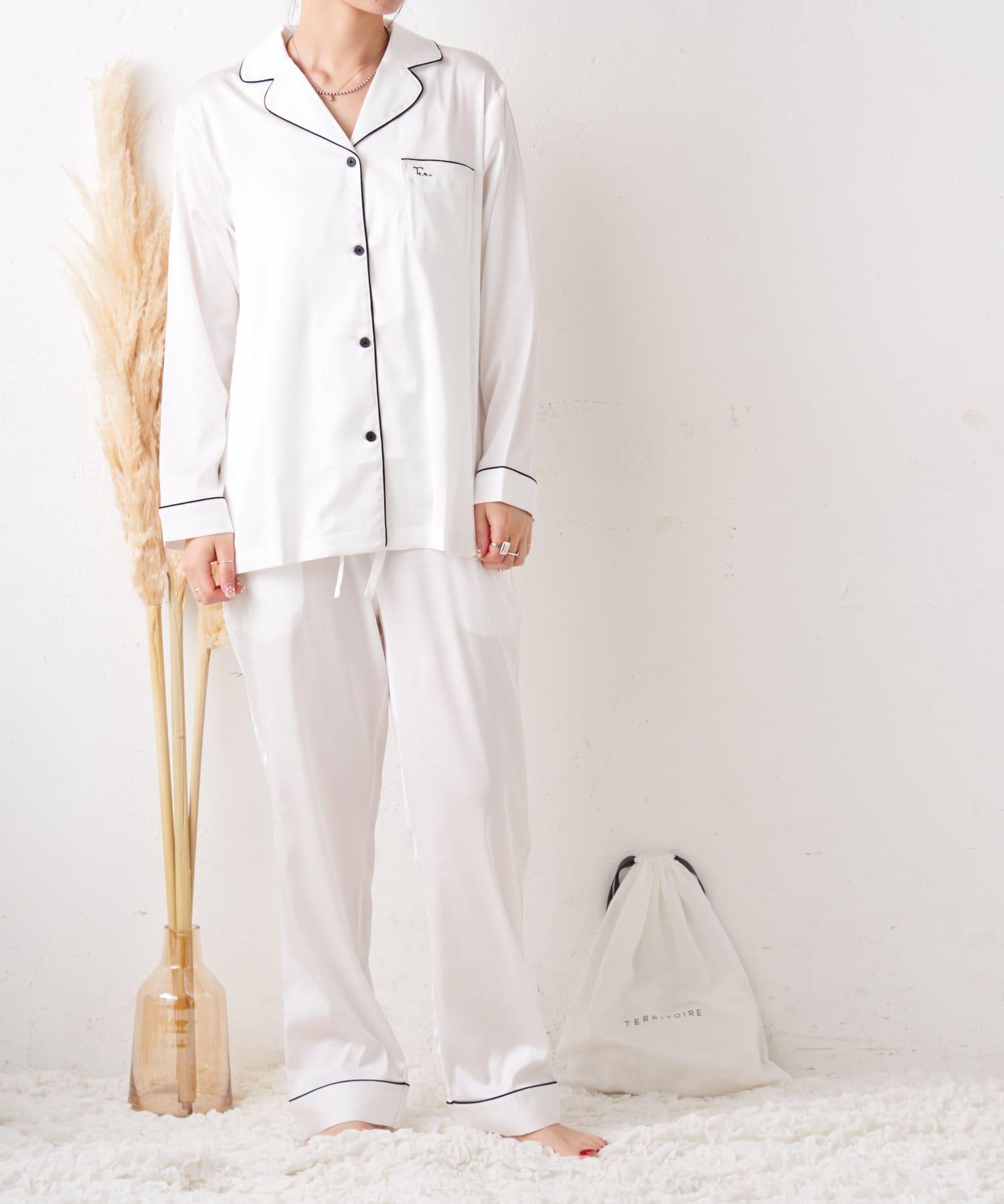 TERRITOIRE(テリトワール) 【TERRITOIREプレミアム】LADIES シルクタッチサテンパジャマ