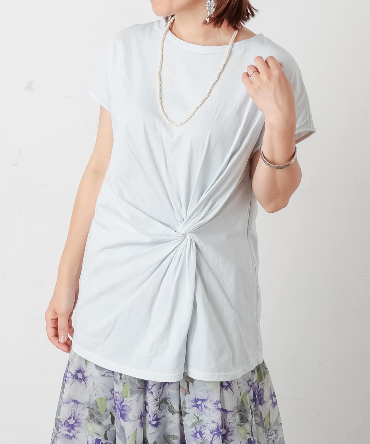 PLUS OTO.HA(プラス オトハ) ボタニカル染めやわらかTシャツ
