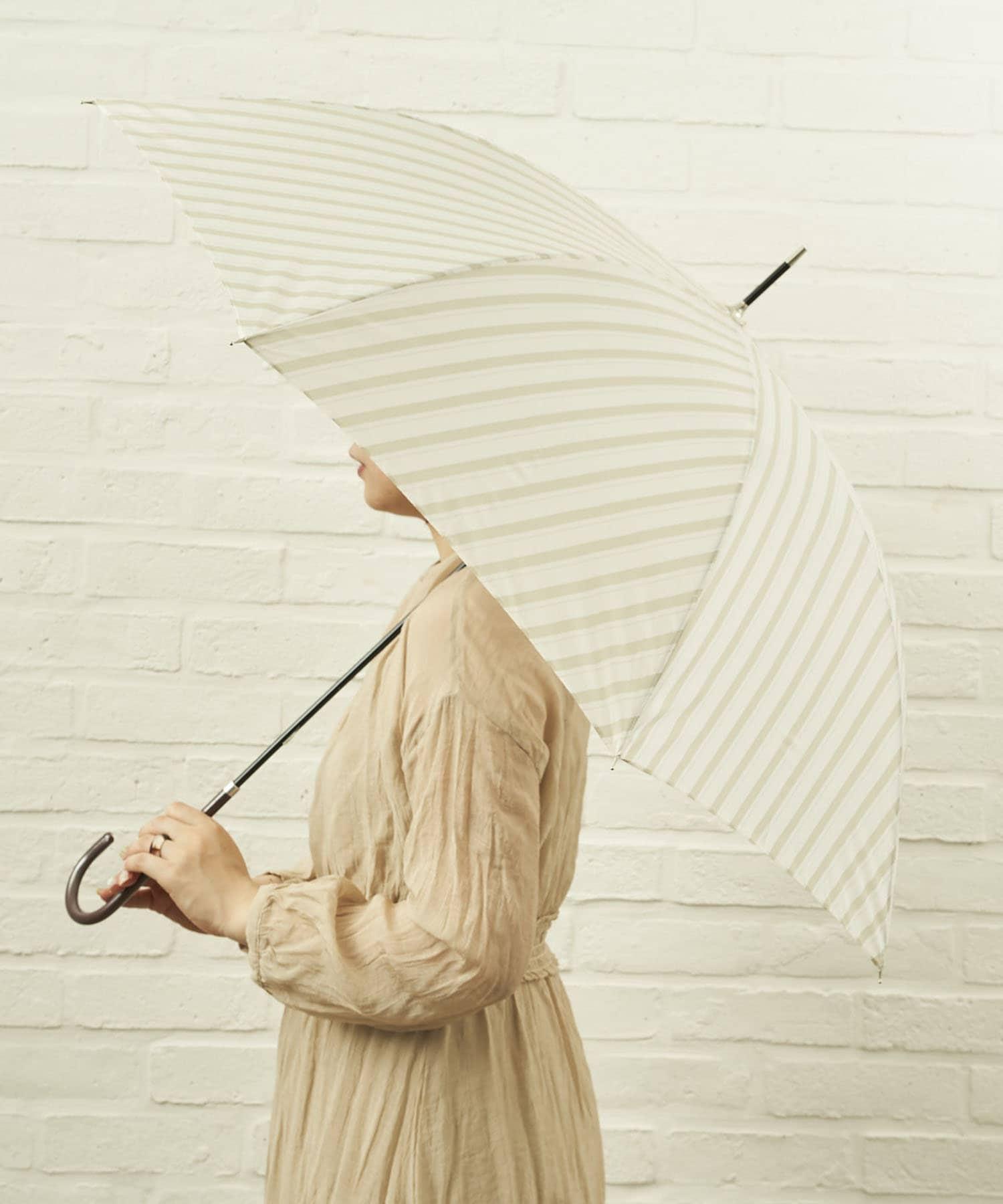 salut!(サリュ) ライフスタイル 雨傘長バイアス(ベージュ) その他