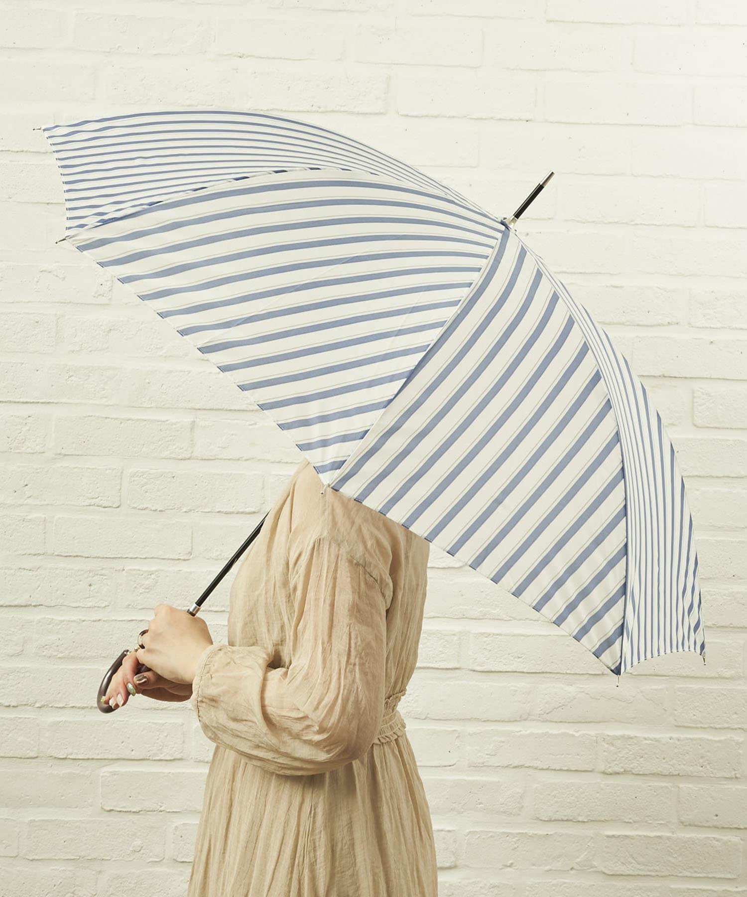 salut!(サリュ) ライフスタイル 雨傘長バイアス(ネイビー) その他