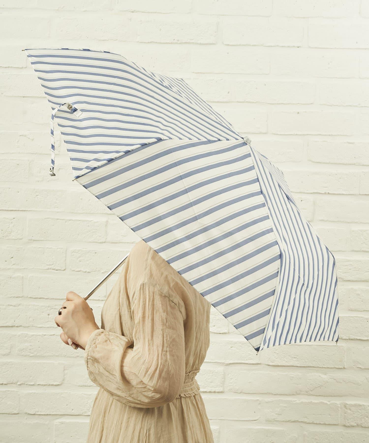 salut!(サリュ) ライフスタイル 雨傘折バイアス(ネイビー) その他
