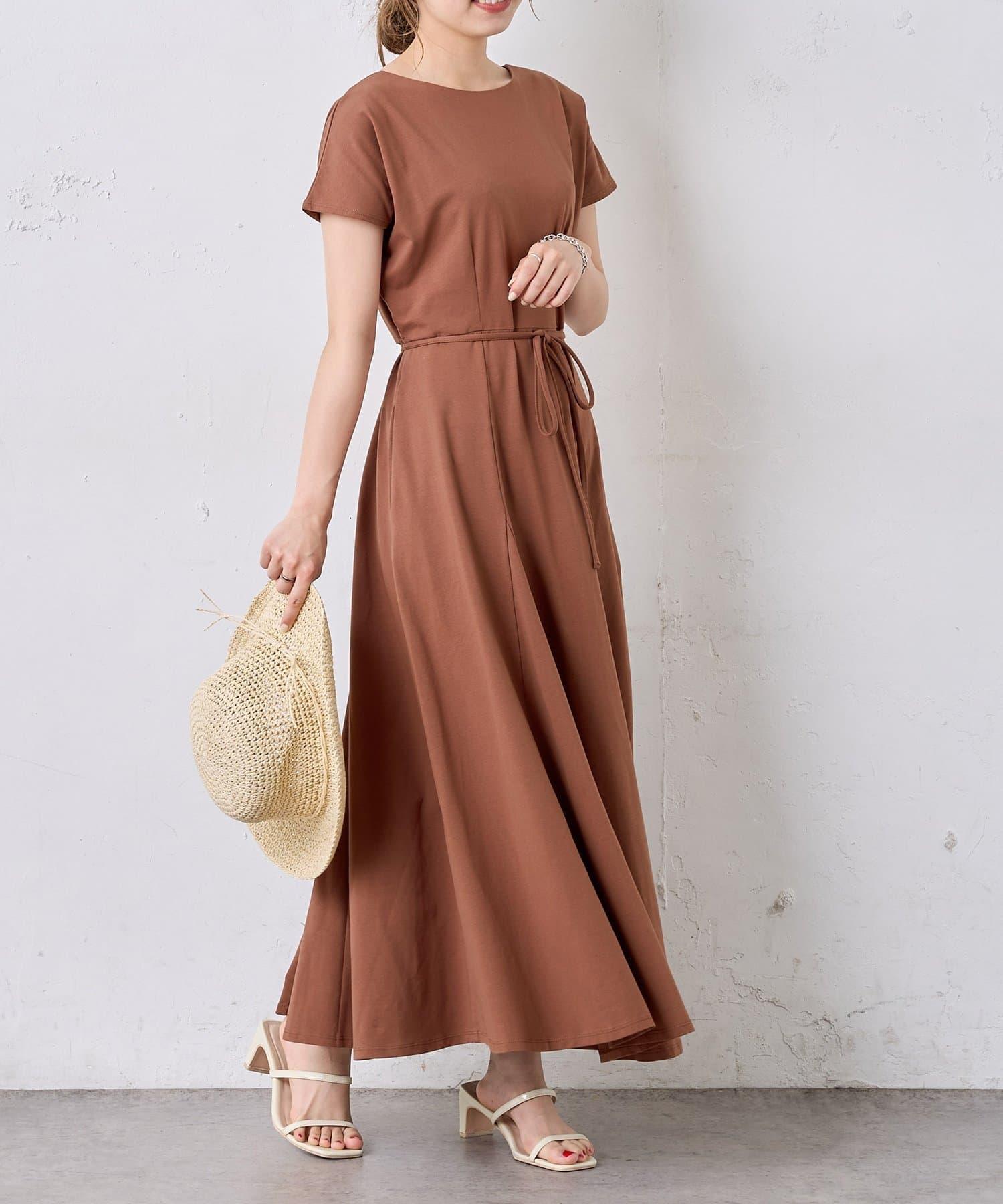 natural couture(ナチュラルクチュール) 【MAYUKOさんコラボ】前後2WAY美シルエットカットワンピース