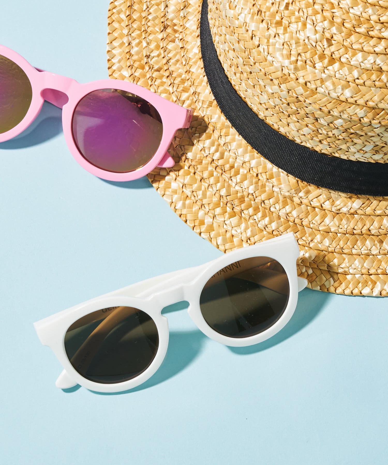BONbazaar(ボンバザール) キッズ 《キッズ》【delieb】Sunglasses NAHANNI WH/BR カラーなし