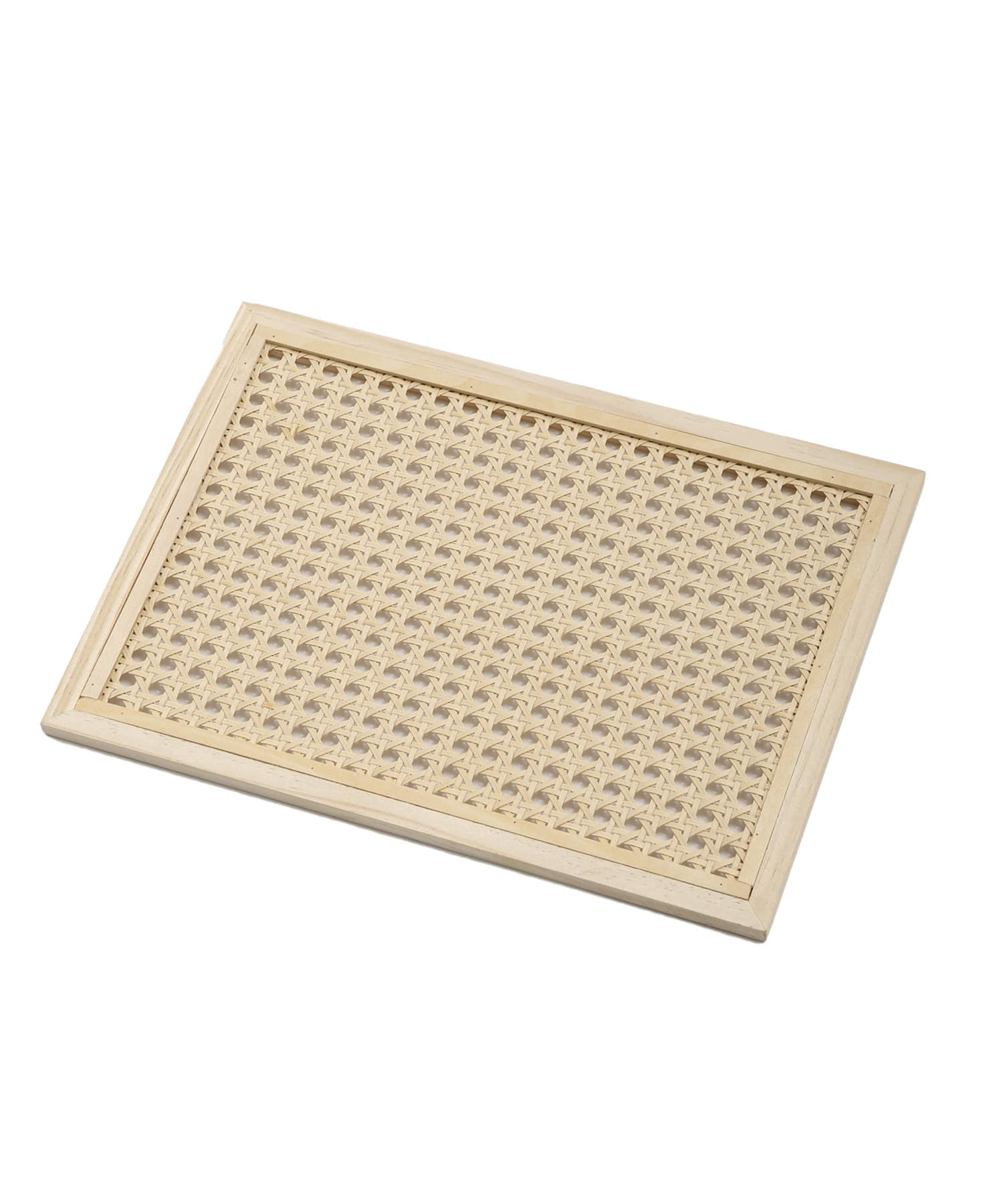 3COINS(スリーコインズ) 【HOME CAFE】カゴメ編みトレー:スクエア