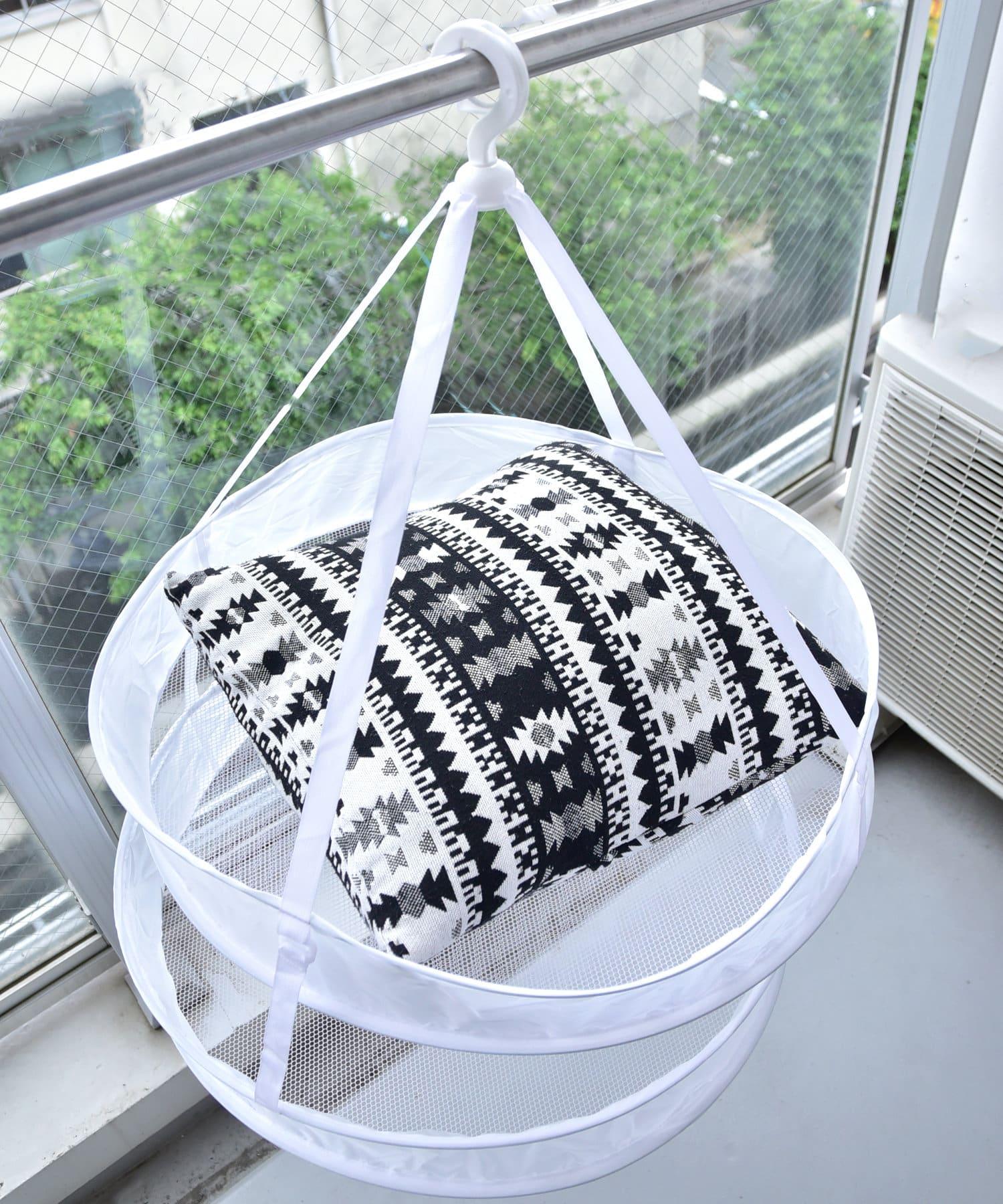 3COINS(スリーコインズ) ライフスタイル 【お洗濯をより快適に】衣類干しネット グレー
