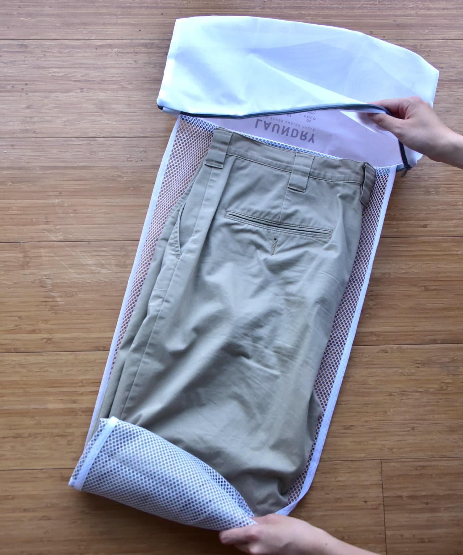 3COINS(スリーコインズ) ライフスタイル 【お洗濯をより快適に】パンツ用ランドリーネット グレー