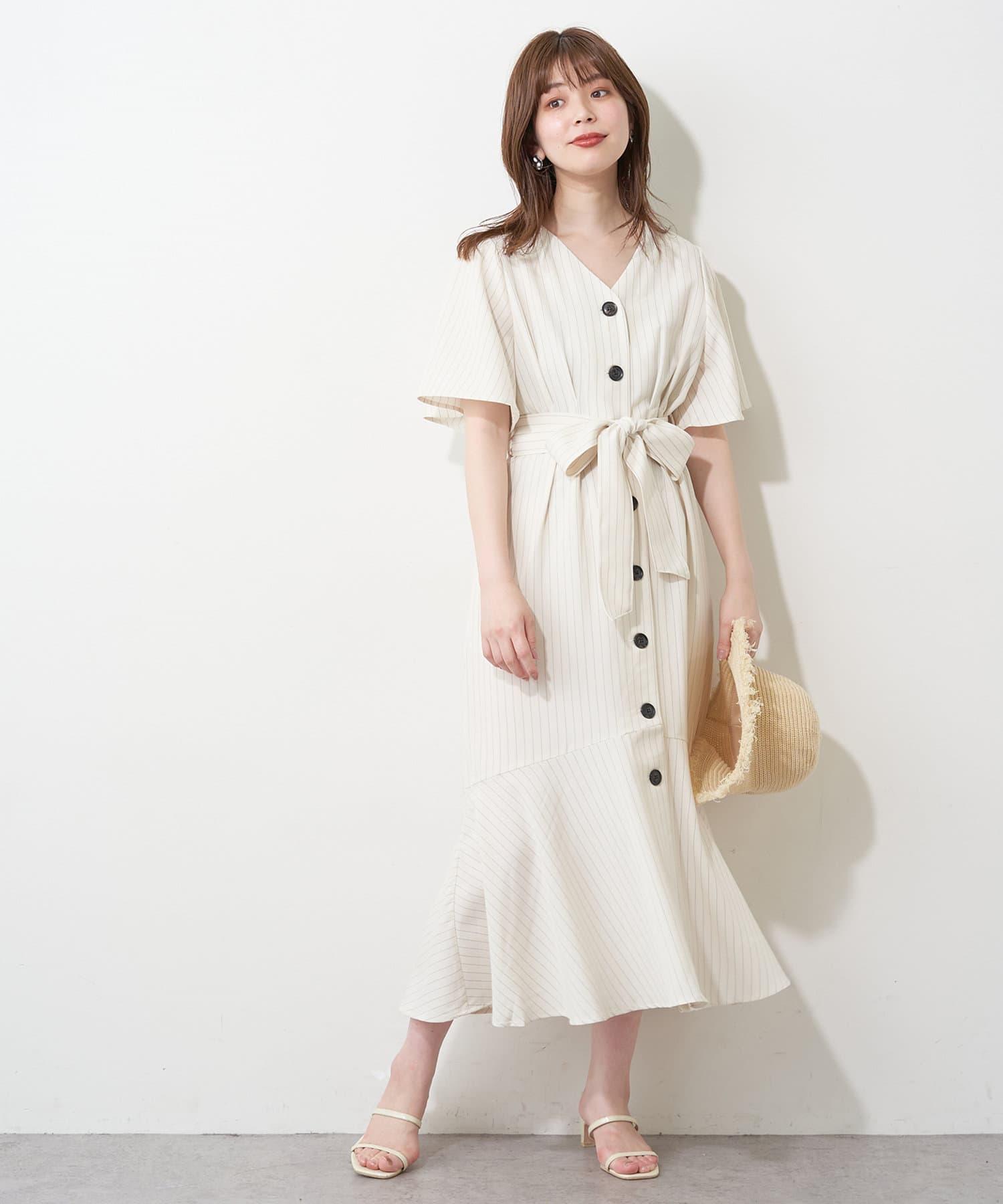 natural couture(ナチュラルクチュール) 釦あきマーメイド2WAYワンピース