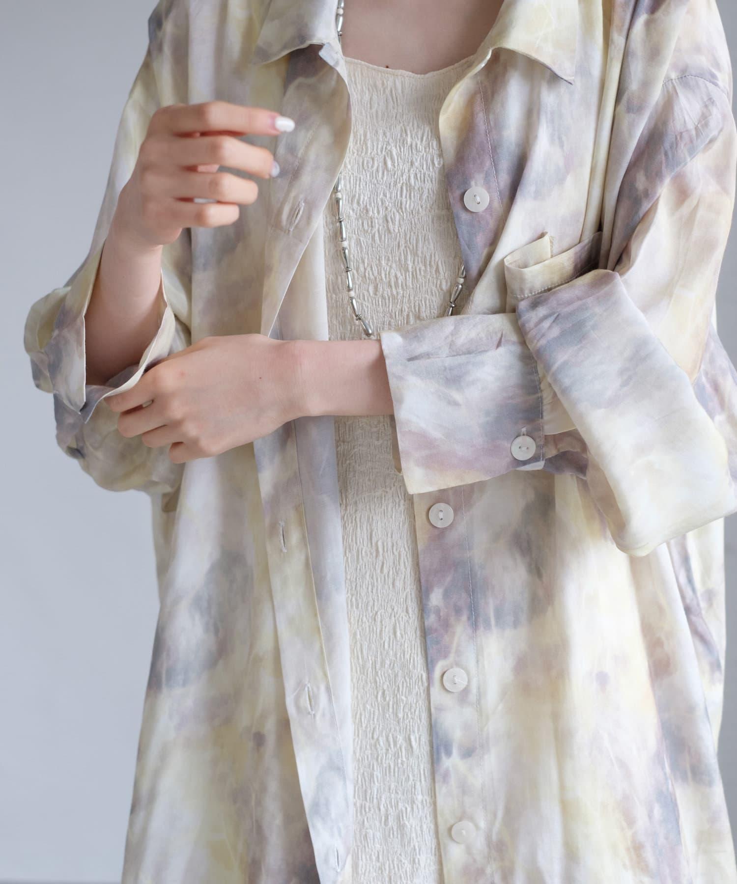 Kastane(カスタネ) マーブルBIGシャツ