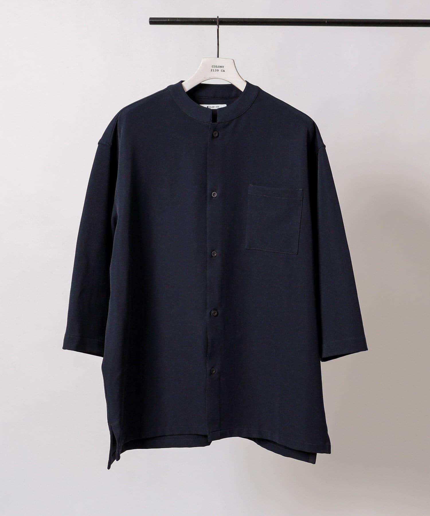 COLONY 2139(コロニー トゥーワンスリーナイン) ストレッチイージーケアスタンド8分袖シャツ※セットアップ対応