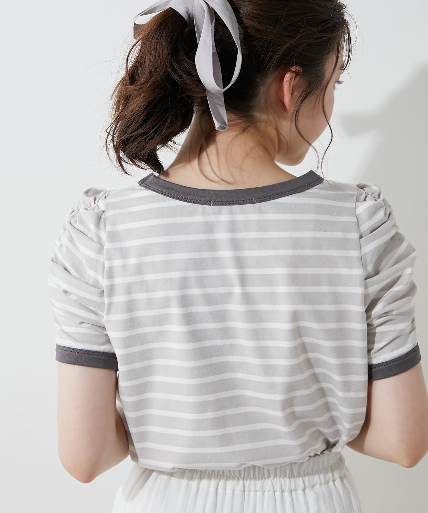 OLIVE des OLIVE(オリーブ デ オリーブ) ボーダーリンガーTシャツ