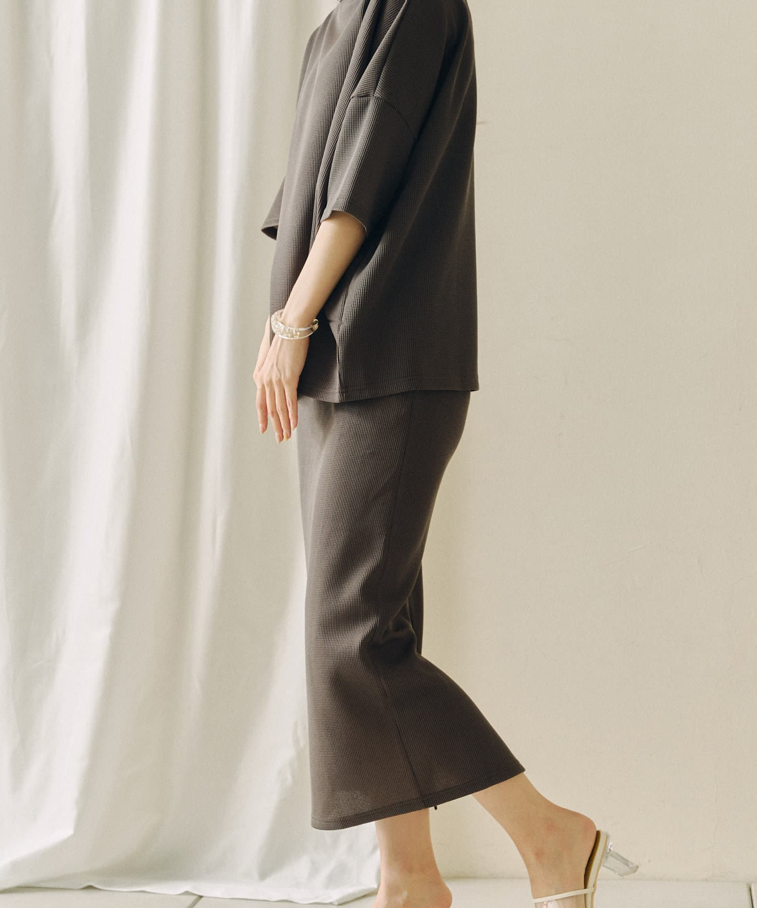 Chez toi(シェトワ) 【着用動画あり】上下セット サーマルカットプルオーバー×スカート