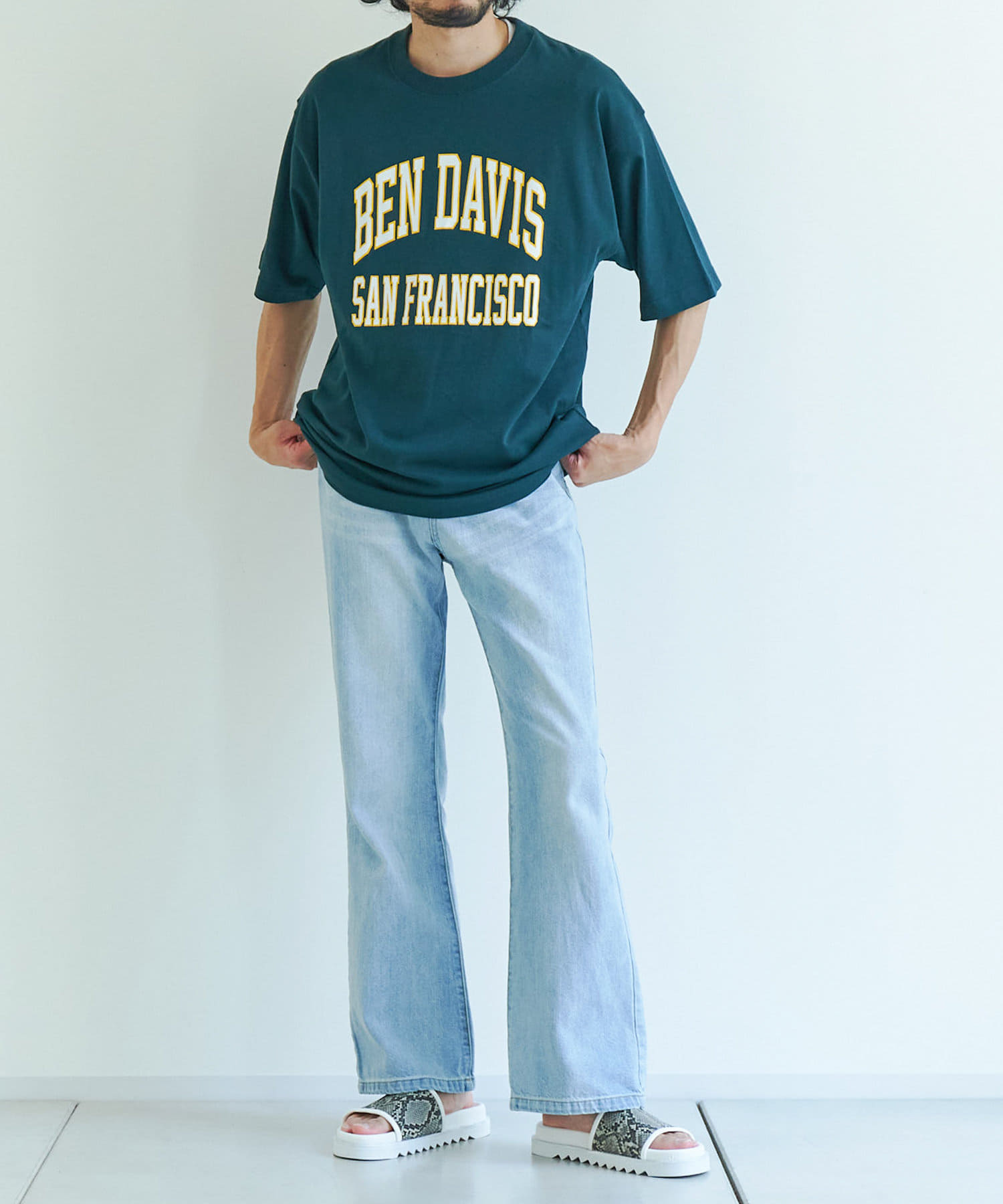 CPCM(シーピーシーエム) 【BEN DAVIS】 カレッジロゴTシャツ【オンラインストア限定商品】