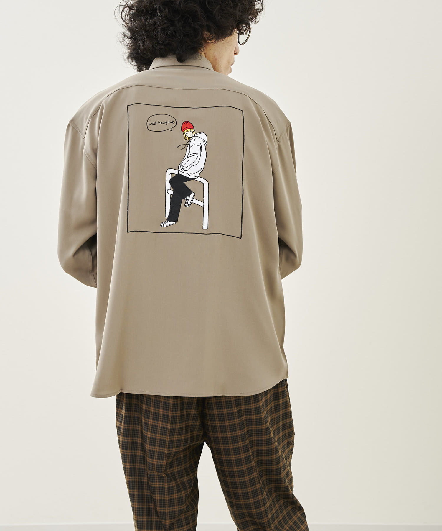 CPCM(シーピーシーエム) 21AWバックガール刺繍シャツ